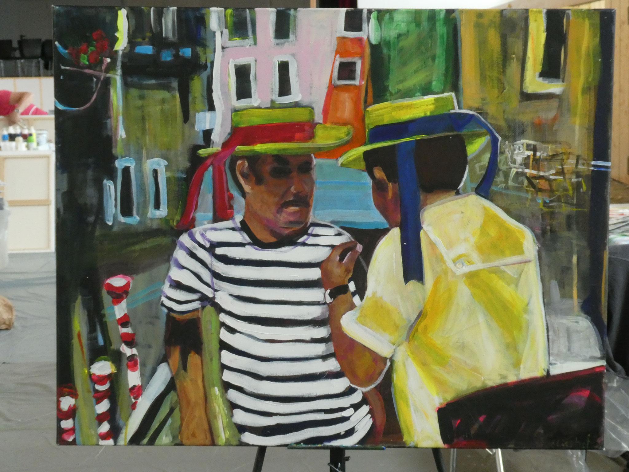 Auge in Auge: Venedig 1, 80x100, acrylic on canvas