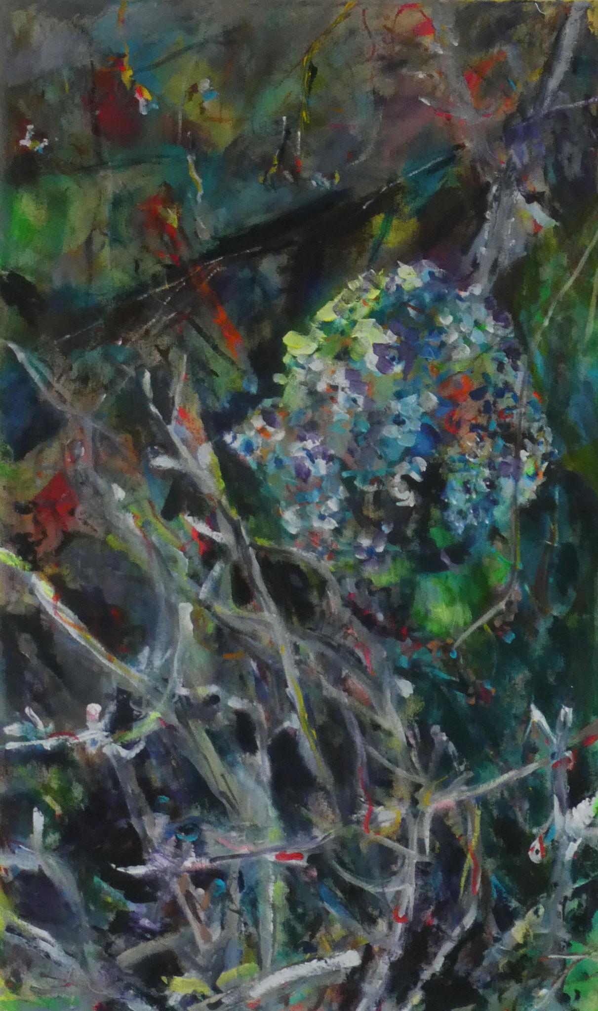 Hortensien 14,  100x60,  acrylic on canvas