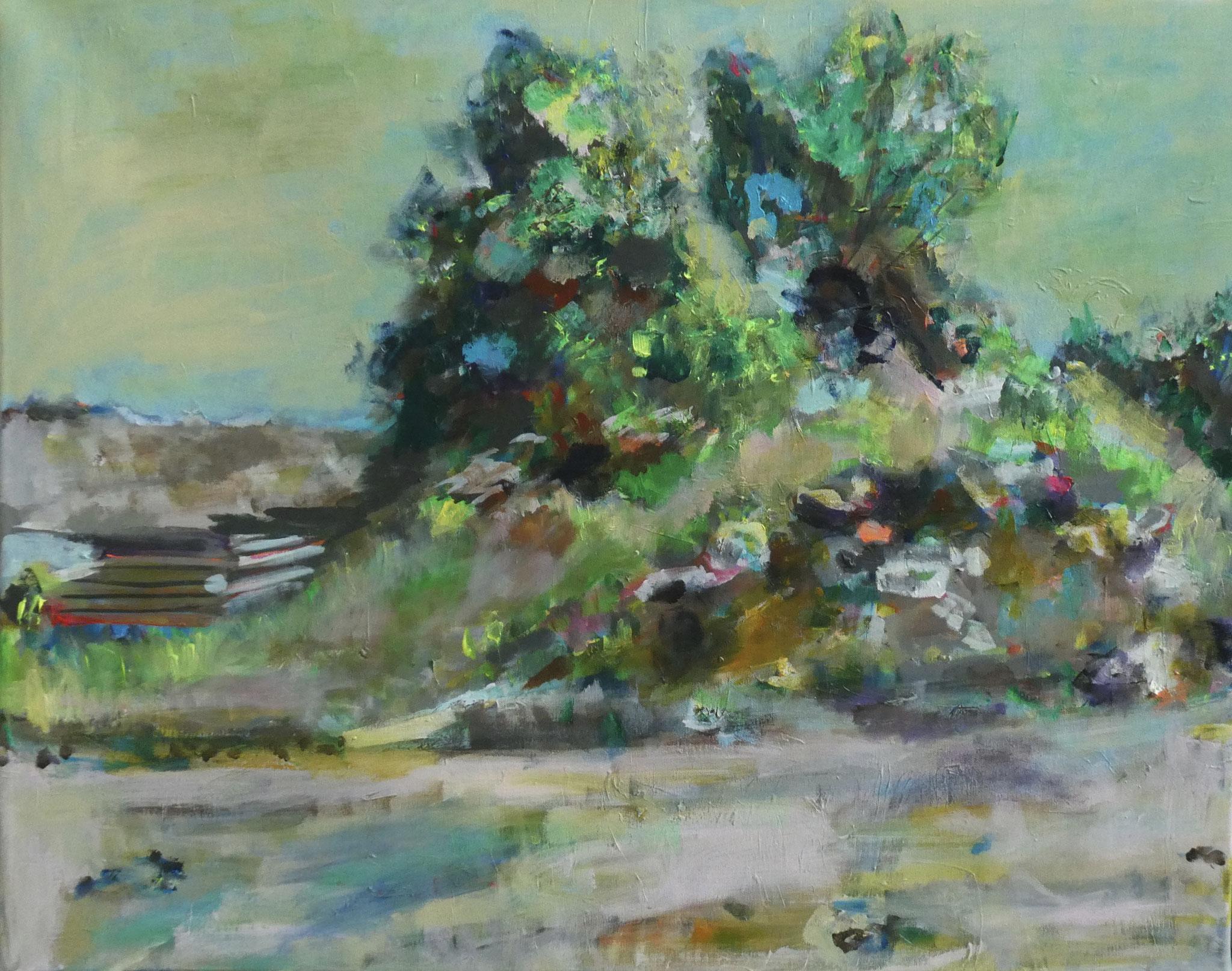 Steine 2, 100x120, acrylic on canvas