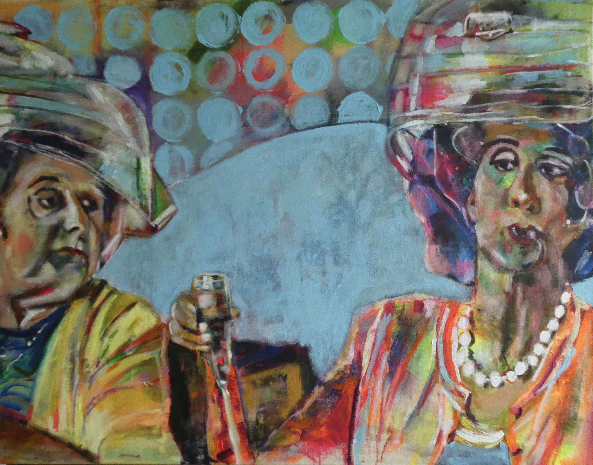 Auge in Auge: Paddington , 80x120, acrylic on canvas