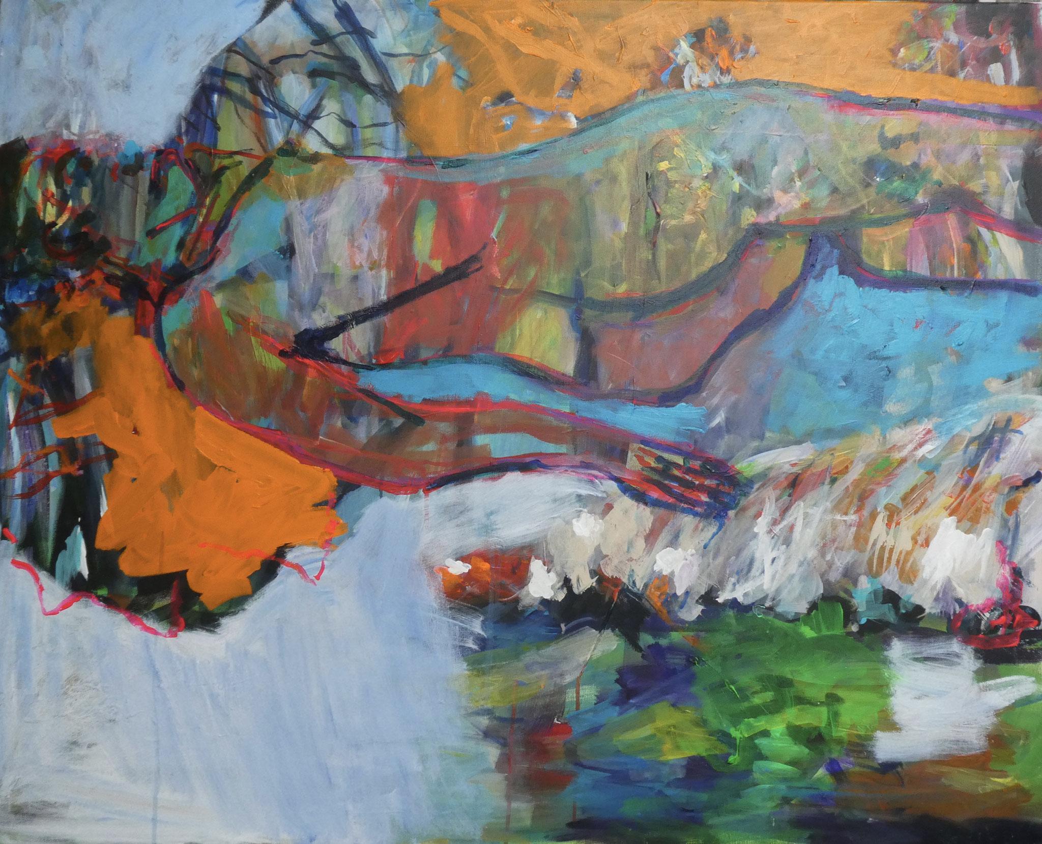 Akt 4, 80x100, acrylic on canvas