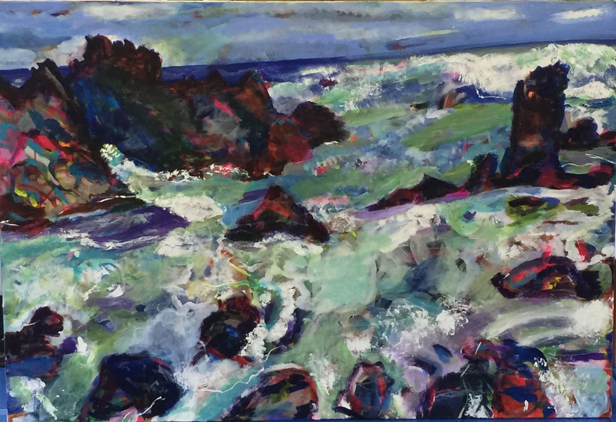 Wasser 4, 90x130  acrylic on canvas