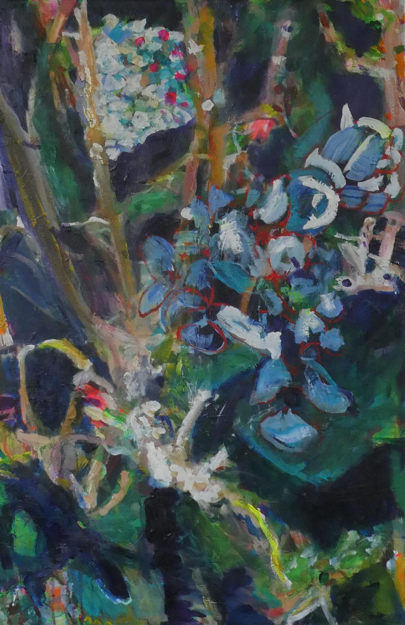 Hortensien 6,  90x60,  acrylic on canvas