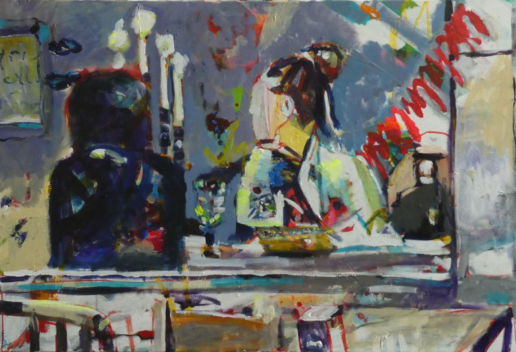 Auge in Auge: Venedig 2, 80x120, acrylic on canvas
