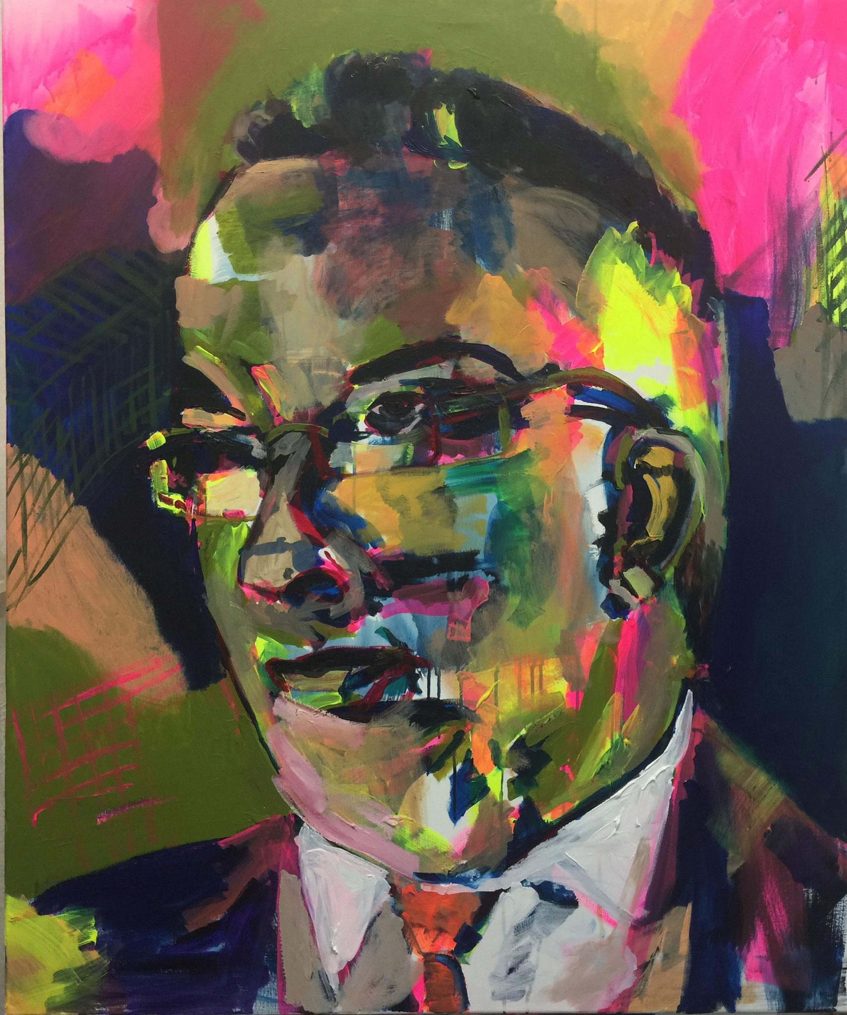 Papa, 120x100, acrylic on canvas