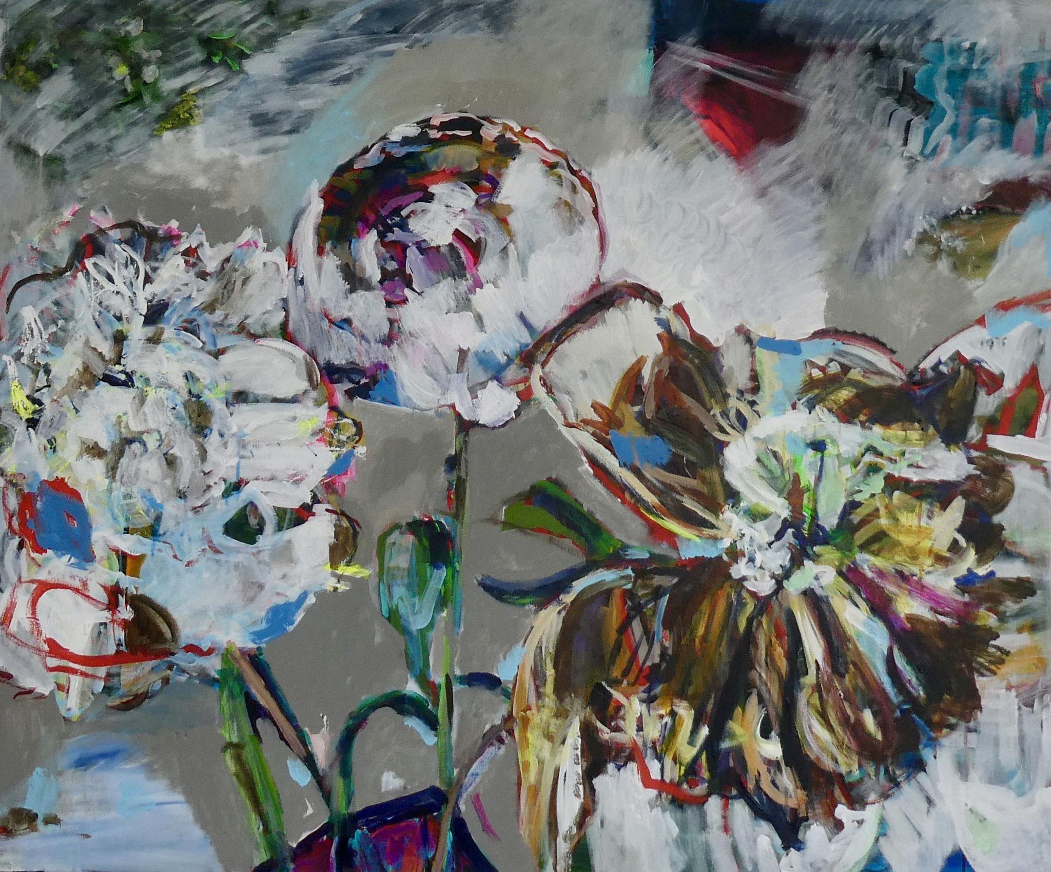 Pfingstrosen 1,  100x120,  acrylic on canvas