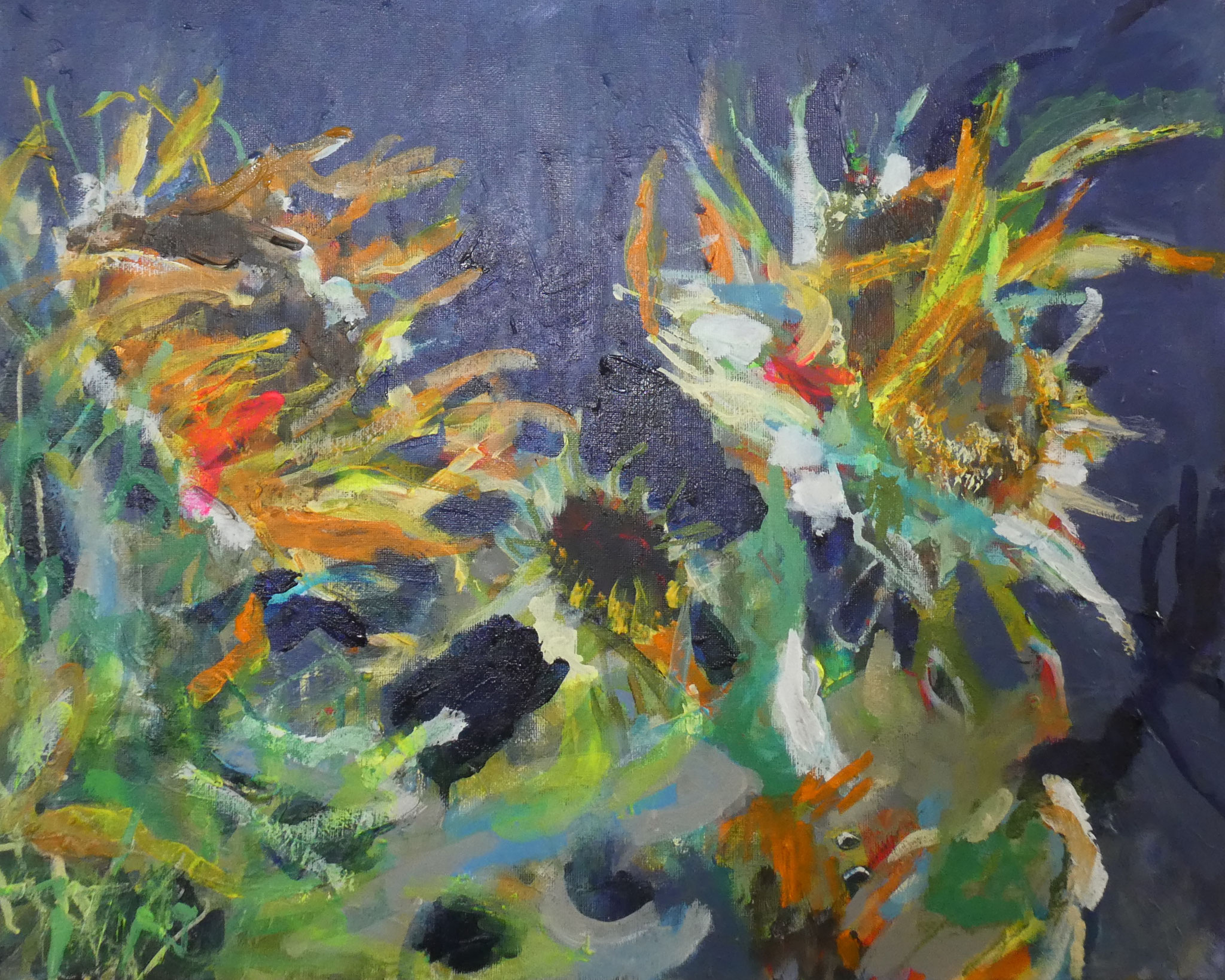 Sonnenblume 3,  40x50,  acrylic on canvas