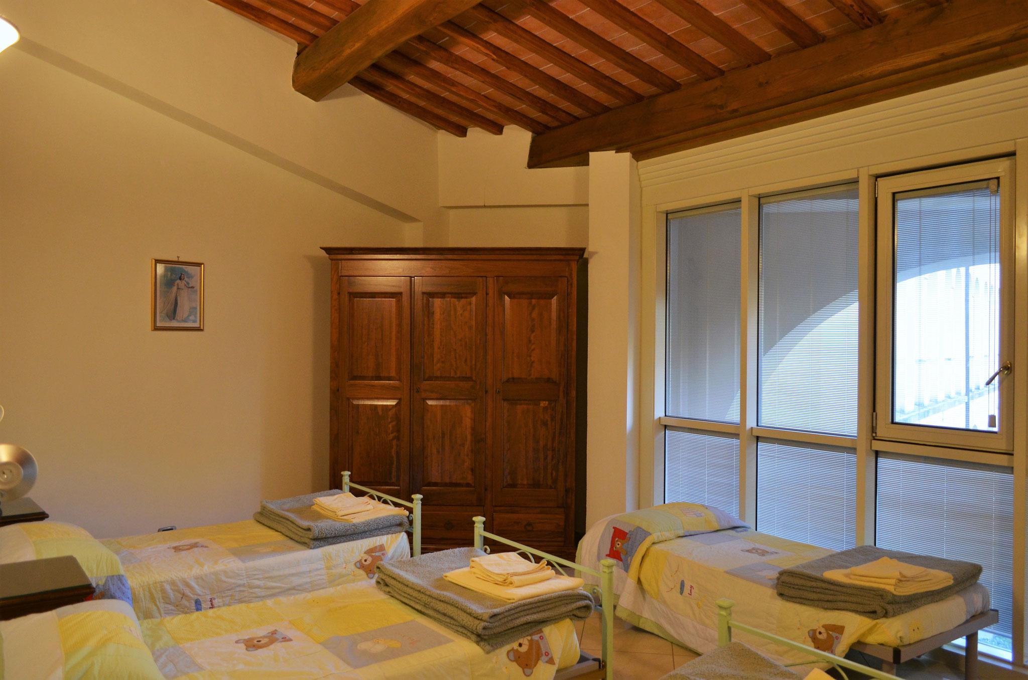 Camera con quattro letti