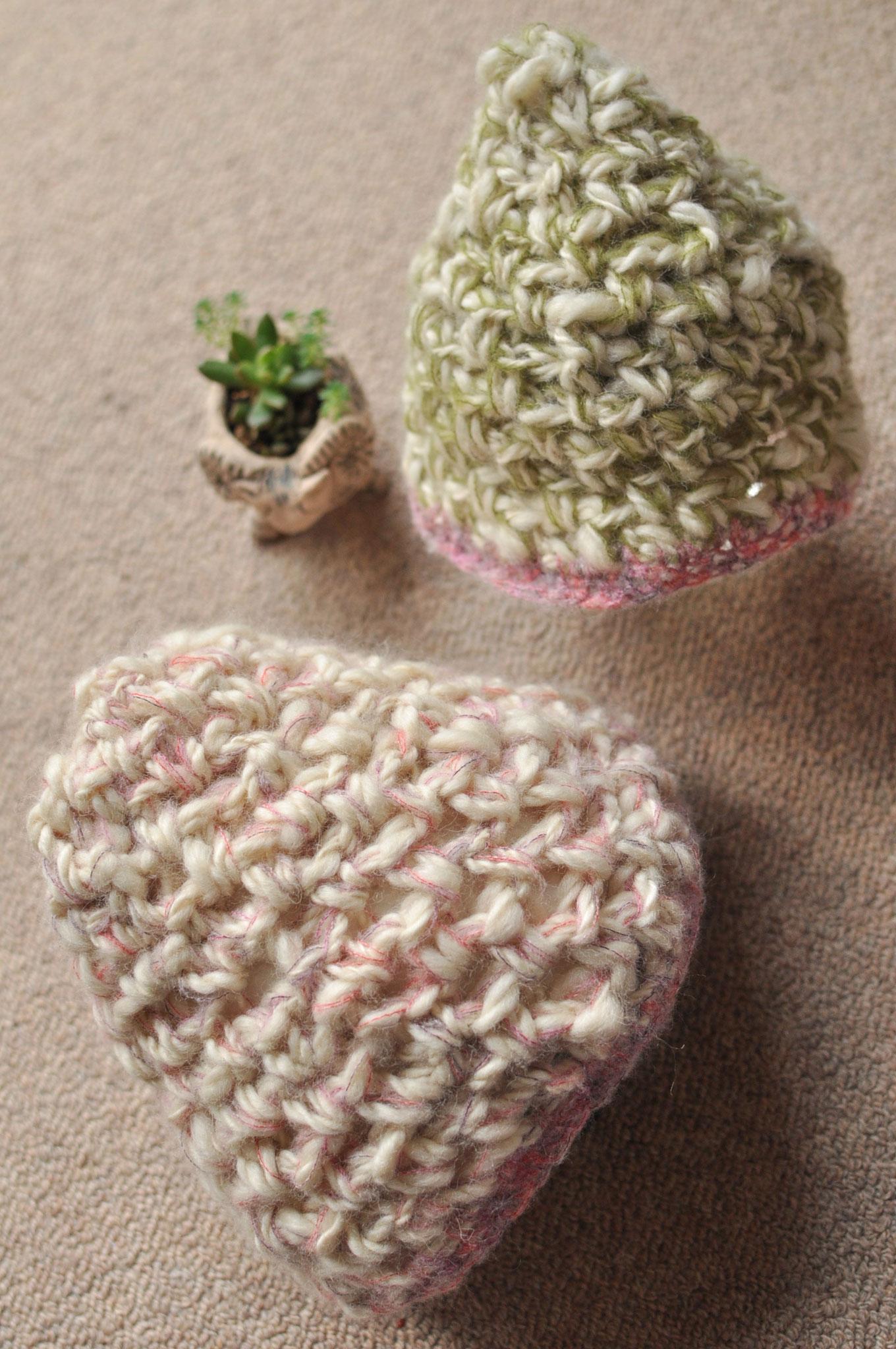 手つむぎ&手編みの小物