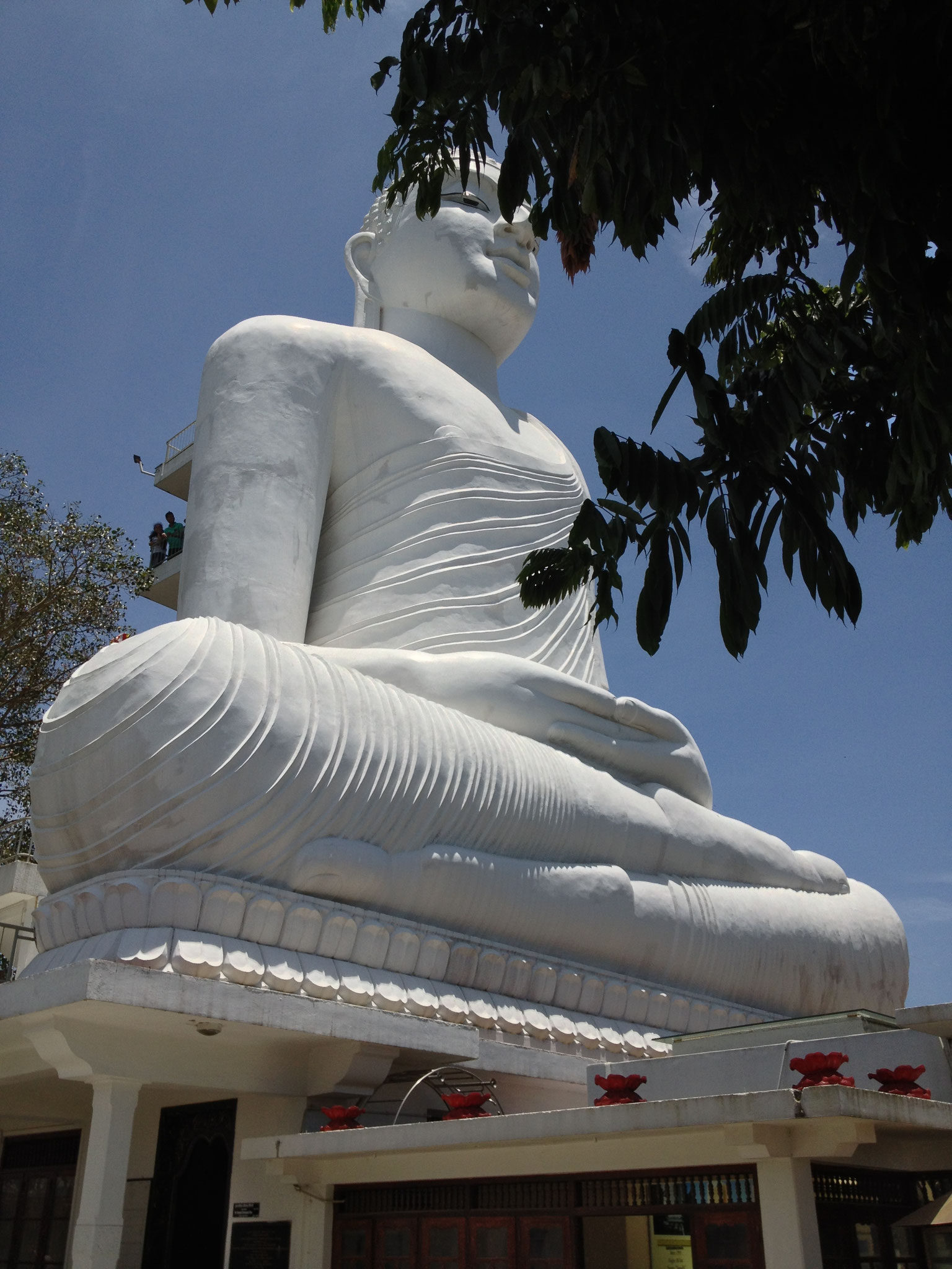 White Buddha in Kandy