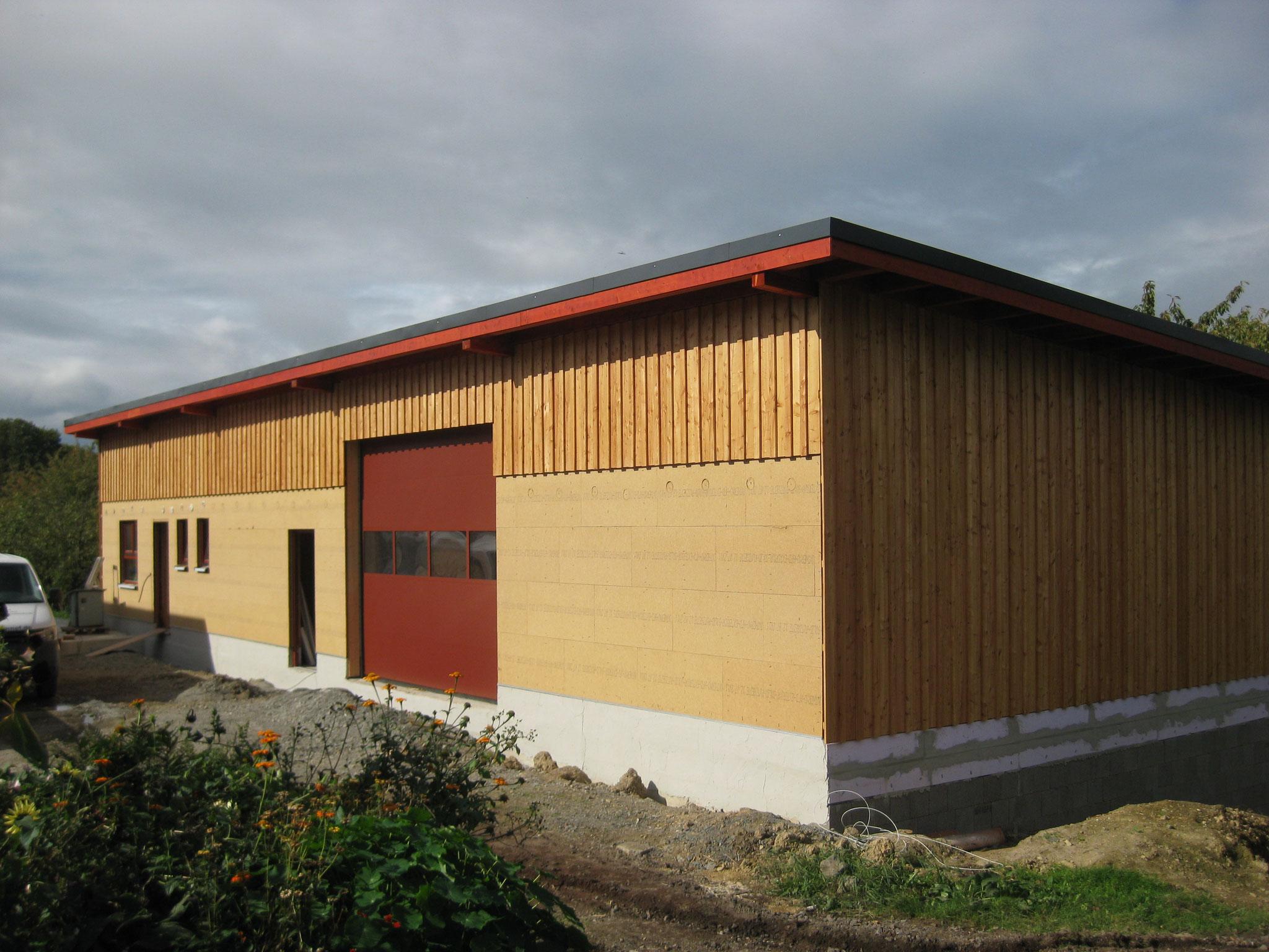 Hof Hüssgen: Neubau einer Kühlhalle