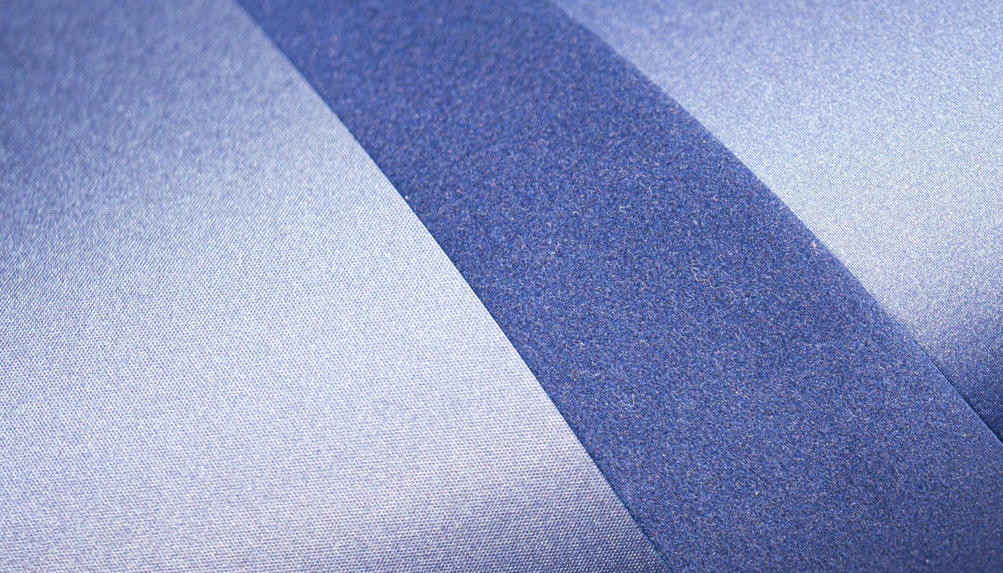 Materialien können durch layering und verkleben miteinander kombiniert werden
