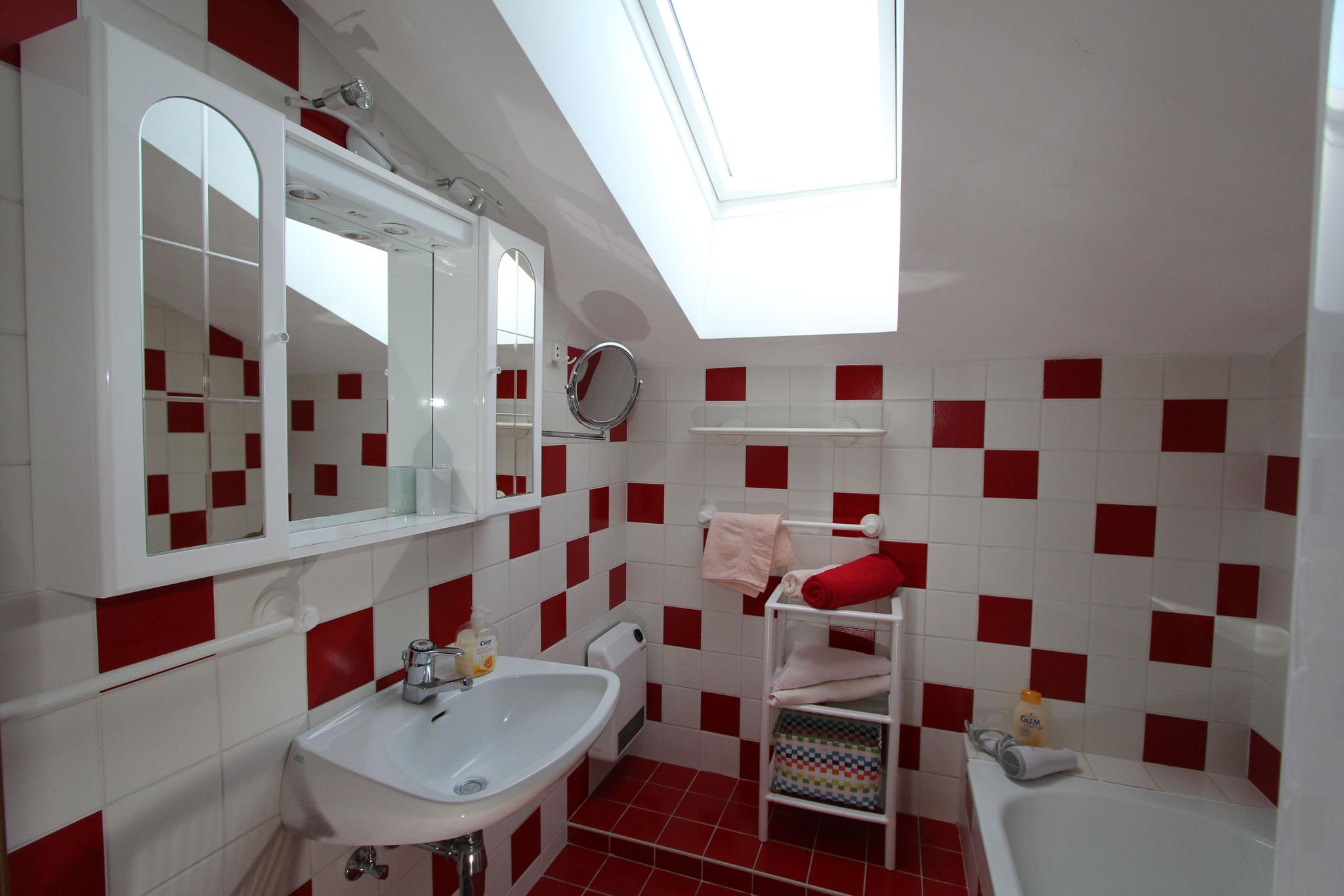 Badezimmer in der 1. Ferienwohnung