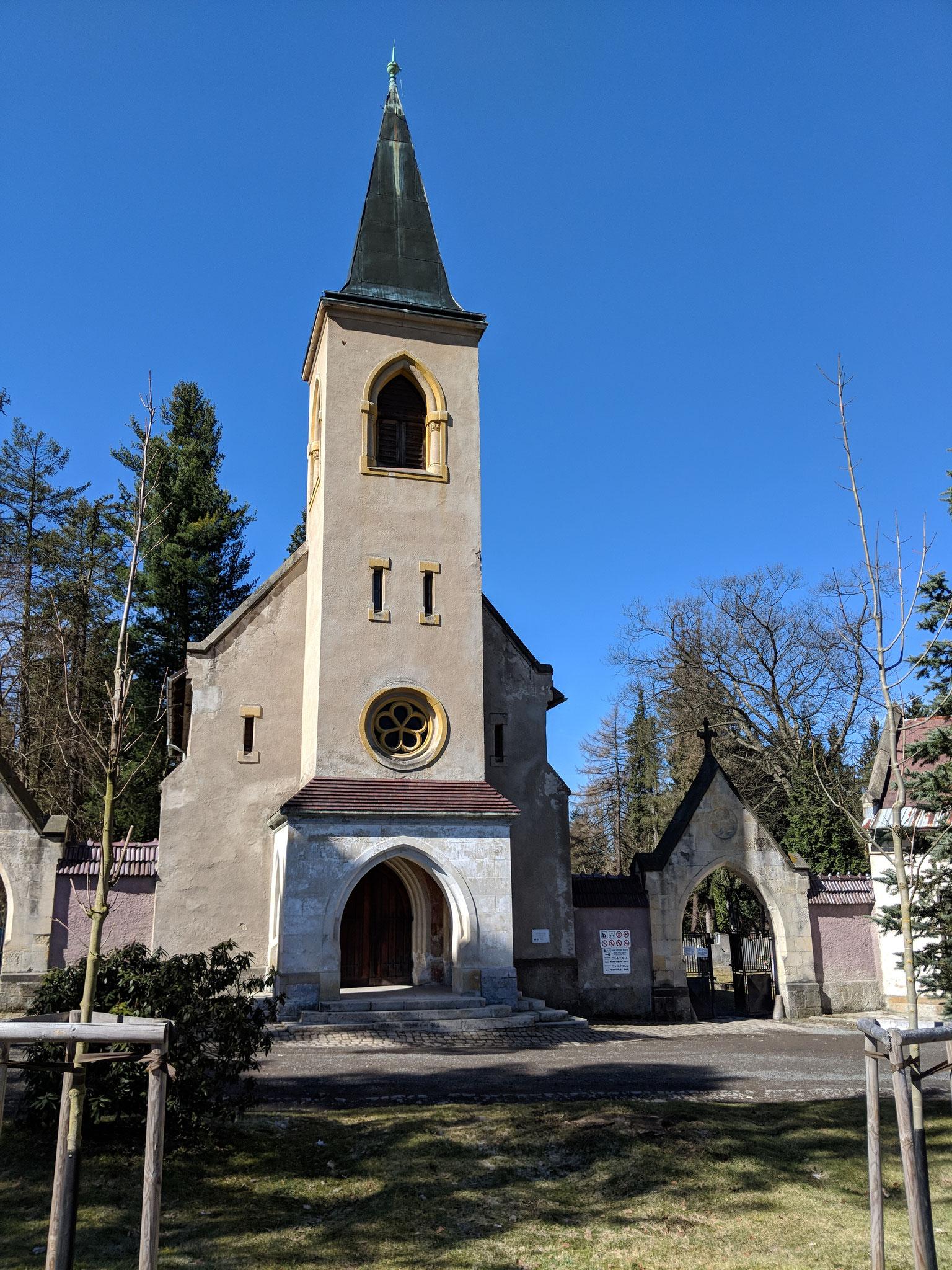 Eingangsbereich des Friedhofes