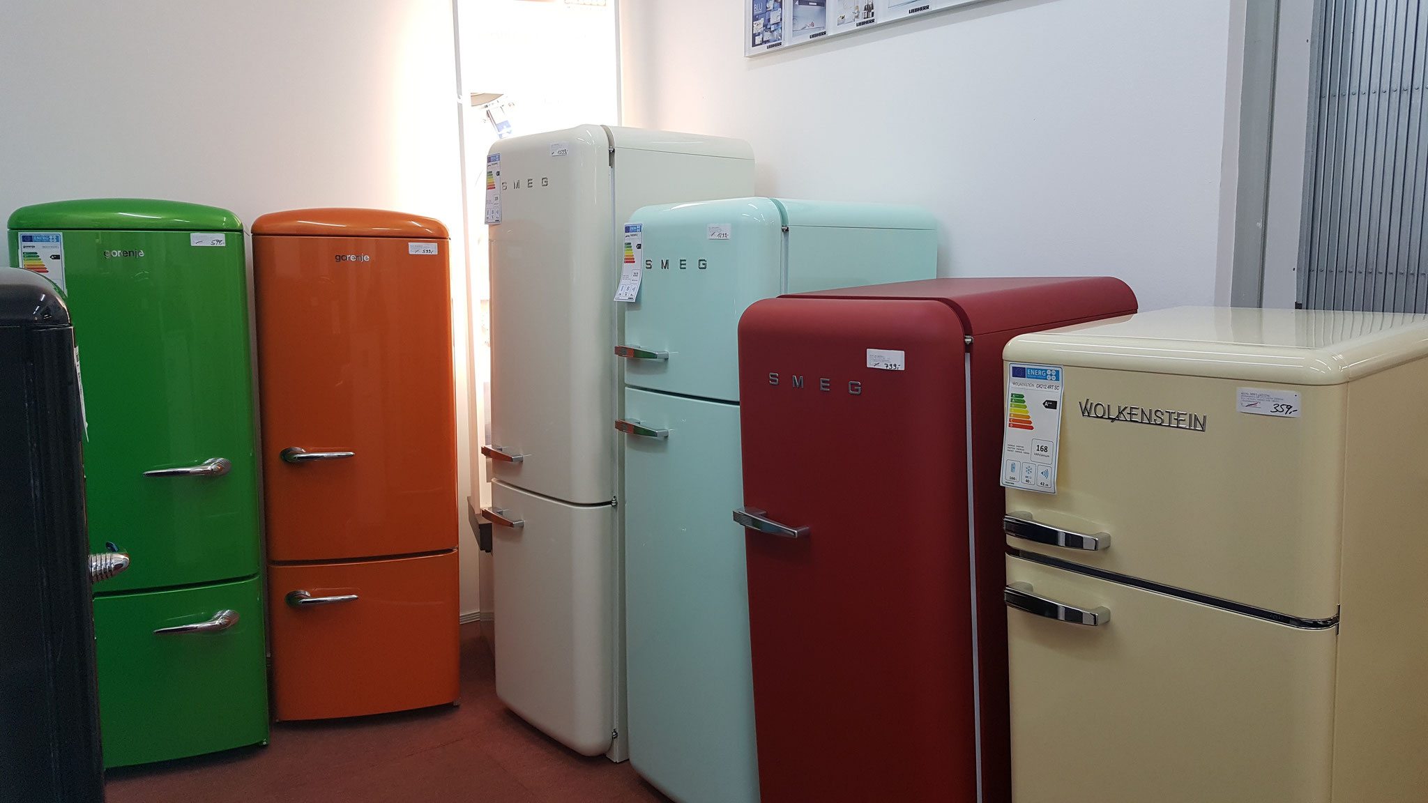 Gorenje Retro Collection bei HGS Elektro in Köln
