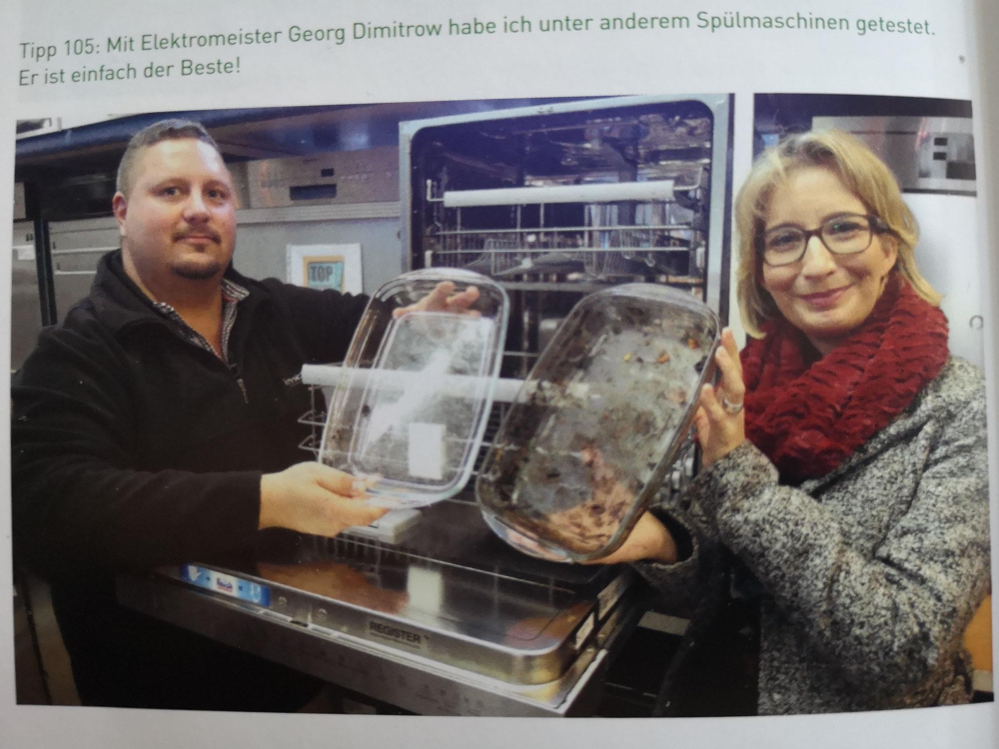 Yvonne Willicks und Georg Dimitrow Spülmaschinen Test