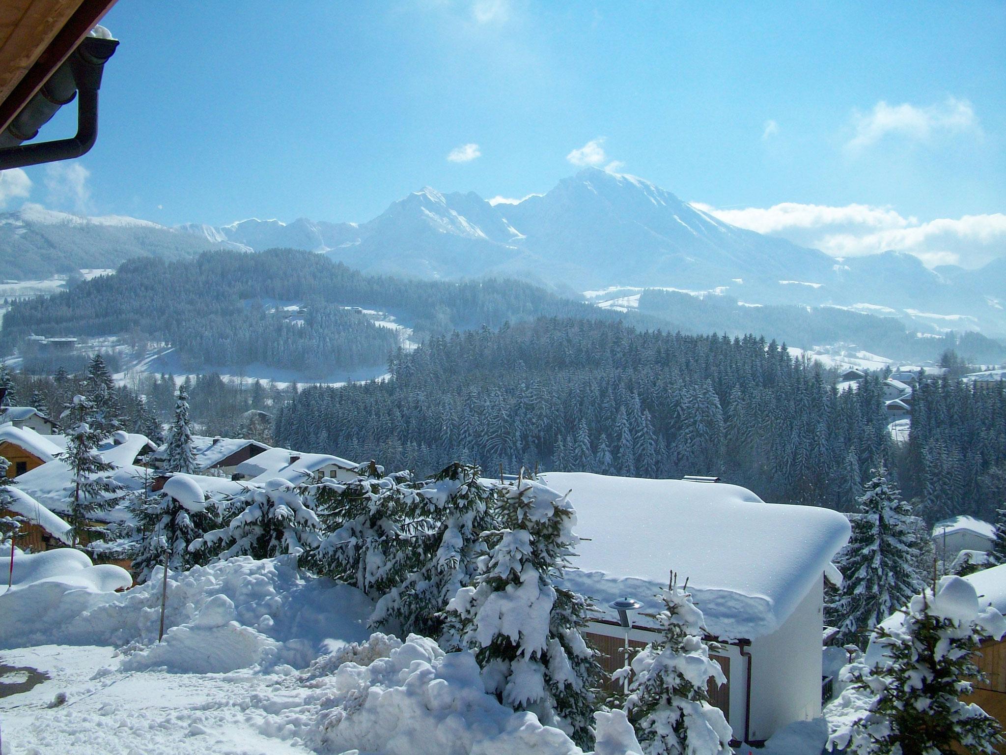 Balkonaussicht Winter