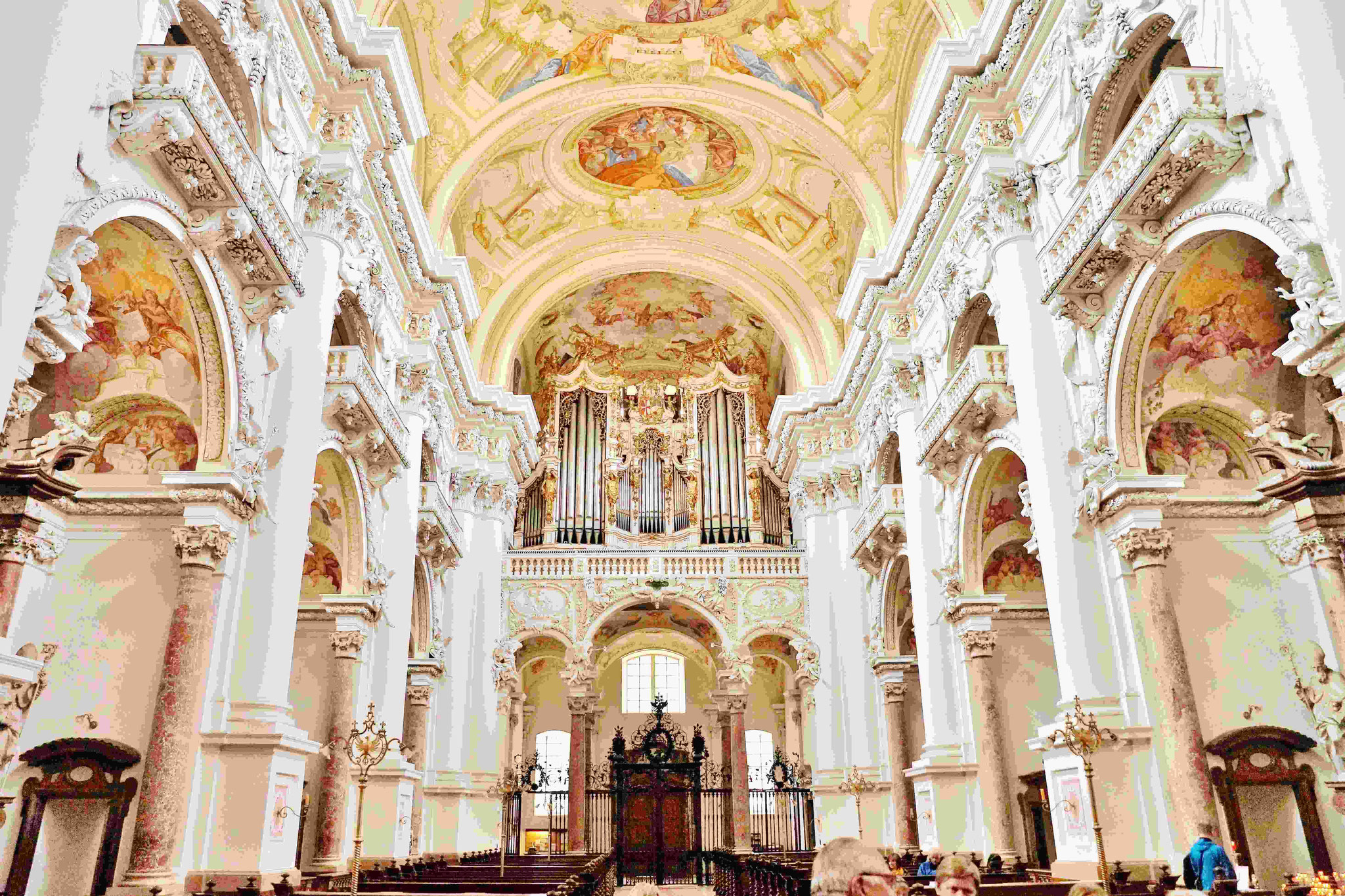 Stiftskirche St. Florian mit der berühmten Bruckner-Orgel