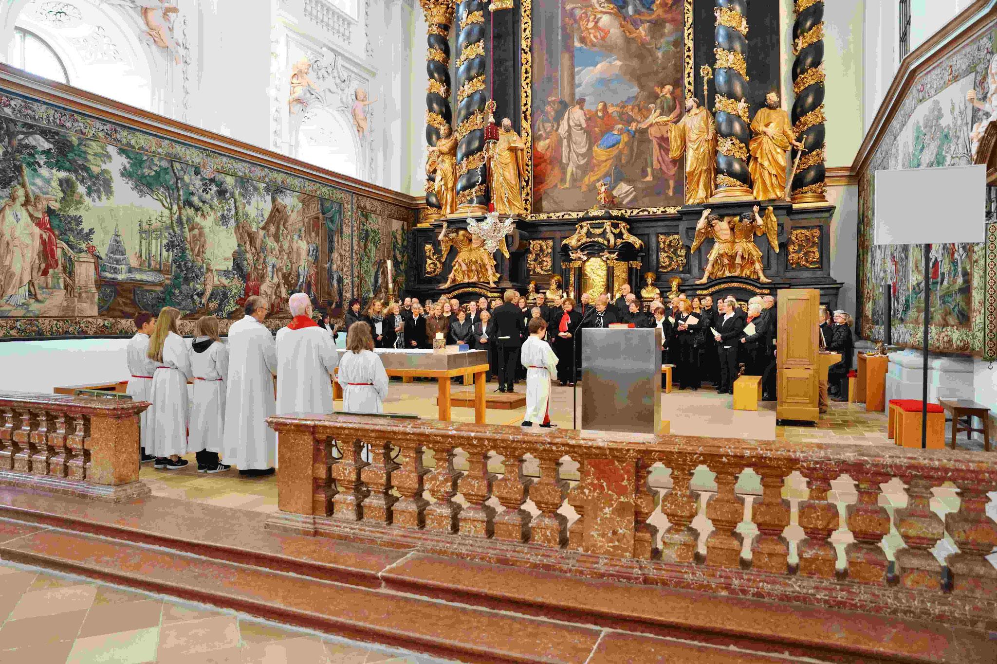 Musikalische Mitgestaltung des Festgottesdienstes durch den Konzertchor des LGV Nürnberg