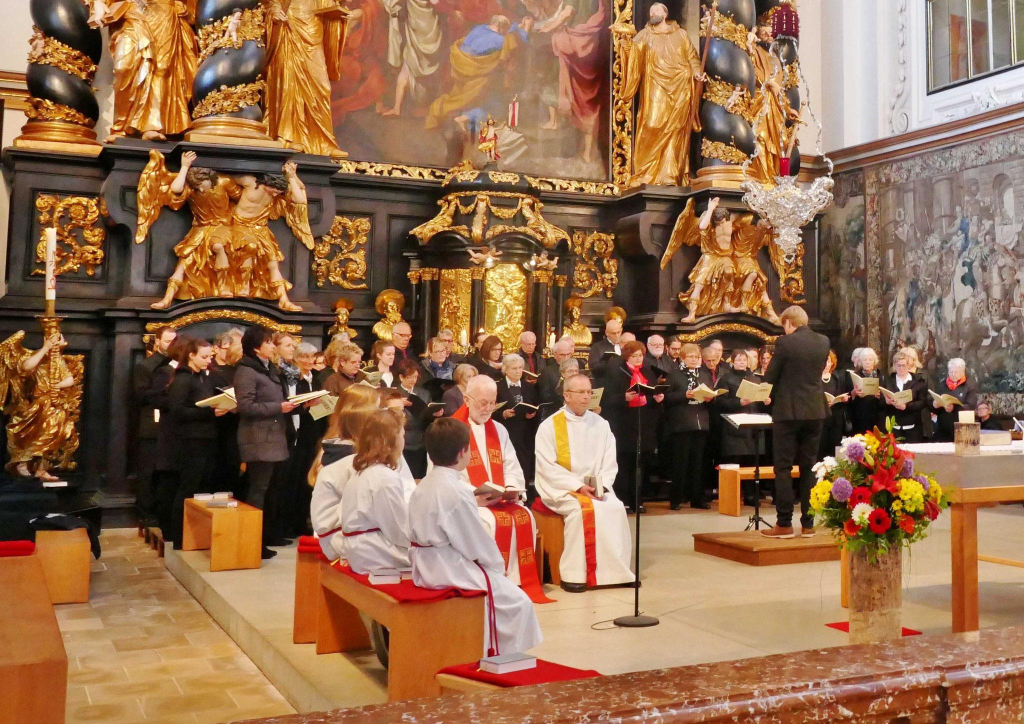 Feierliches Hochamt in der Stiftskirche Garsten