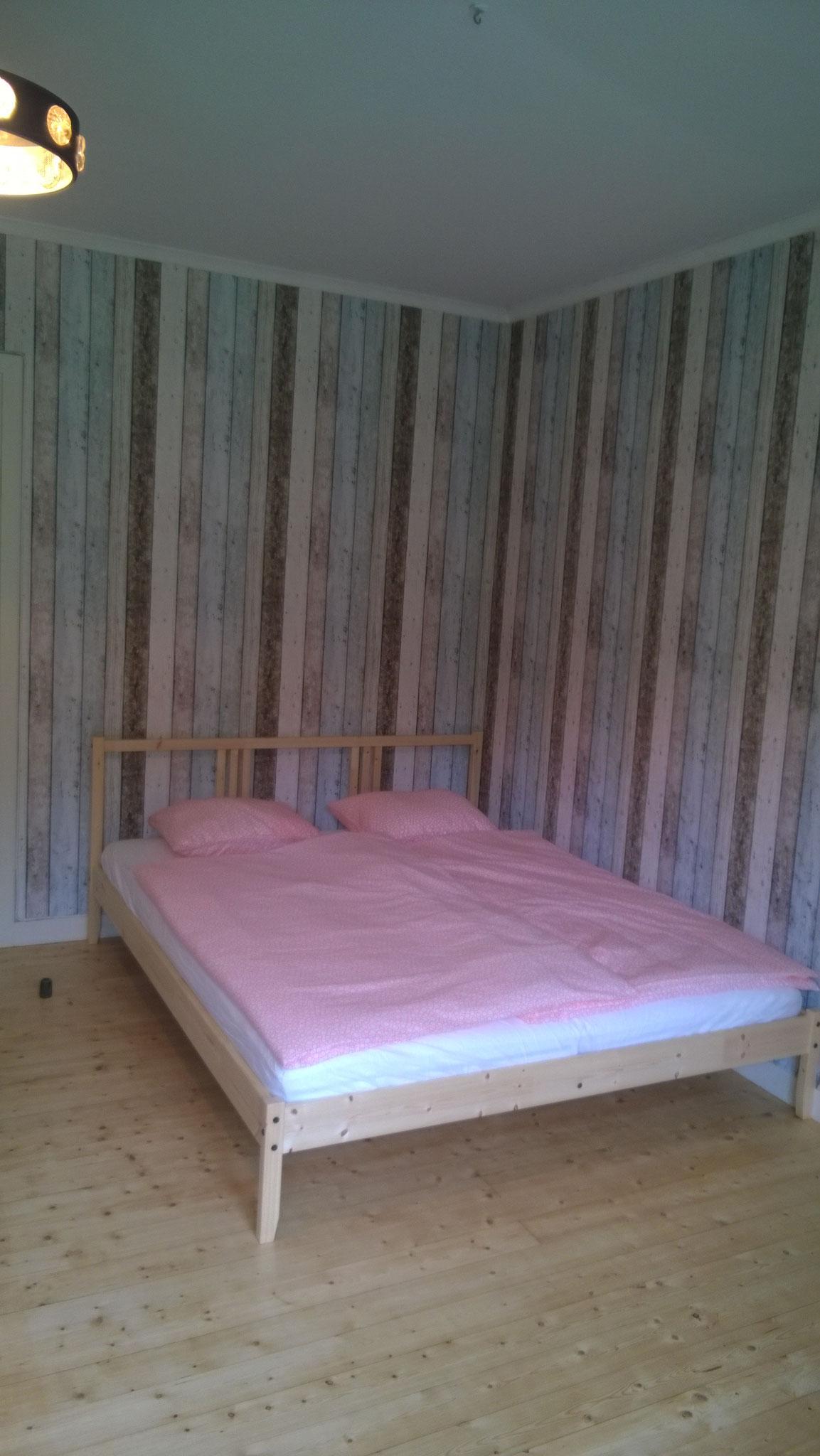 ...med dubbel säng