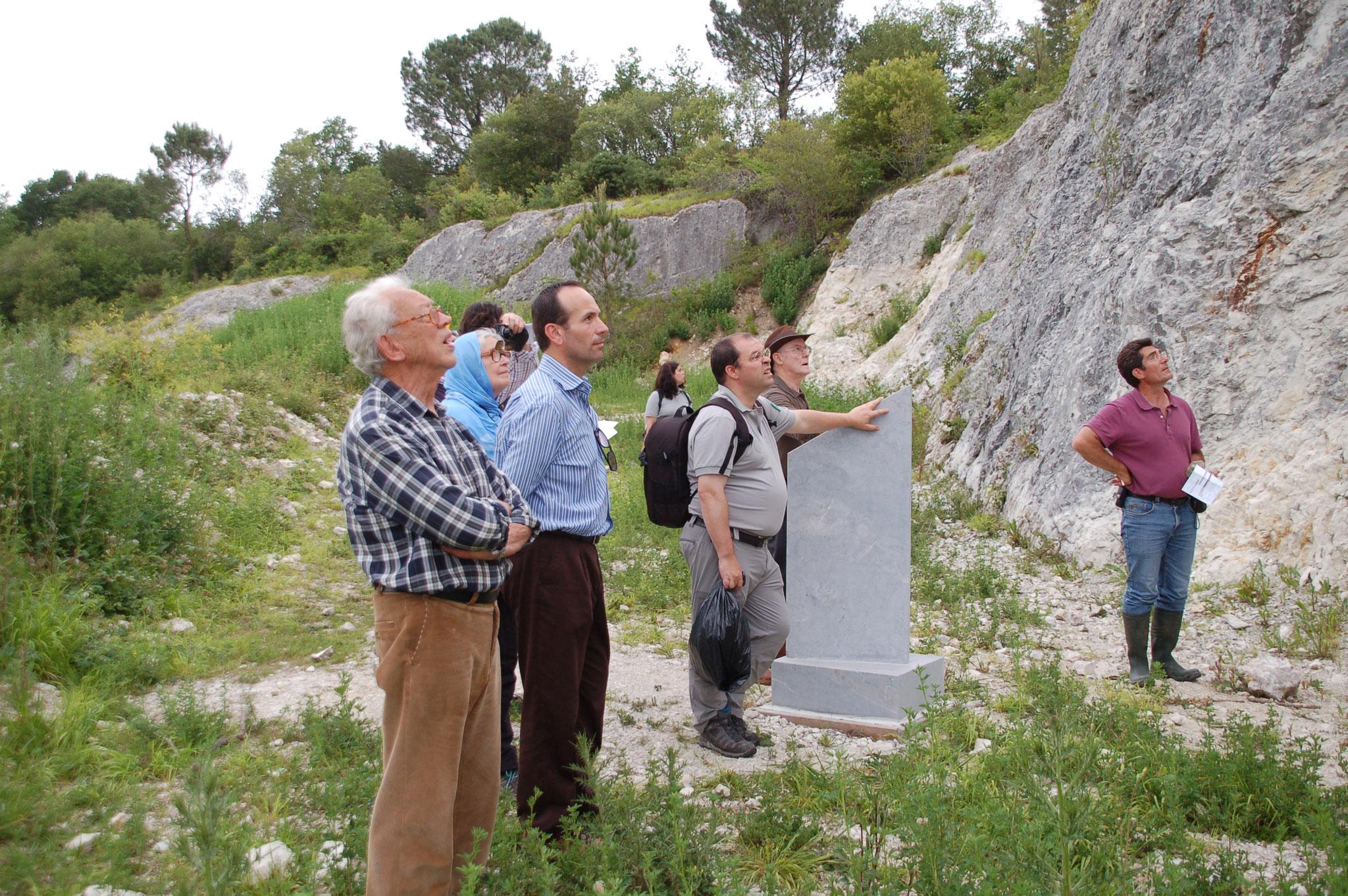 Gestion d'une autre réserve géologique : site de Tercis (40)
