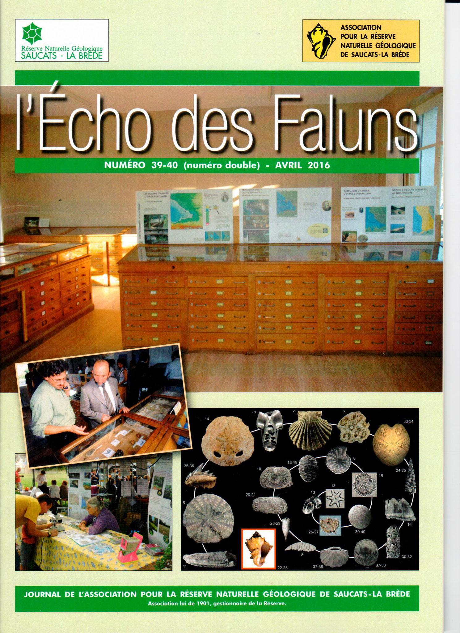 Publications : l'écho des faluns, journal de l'association