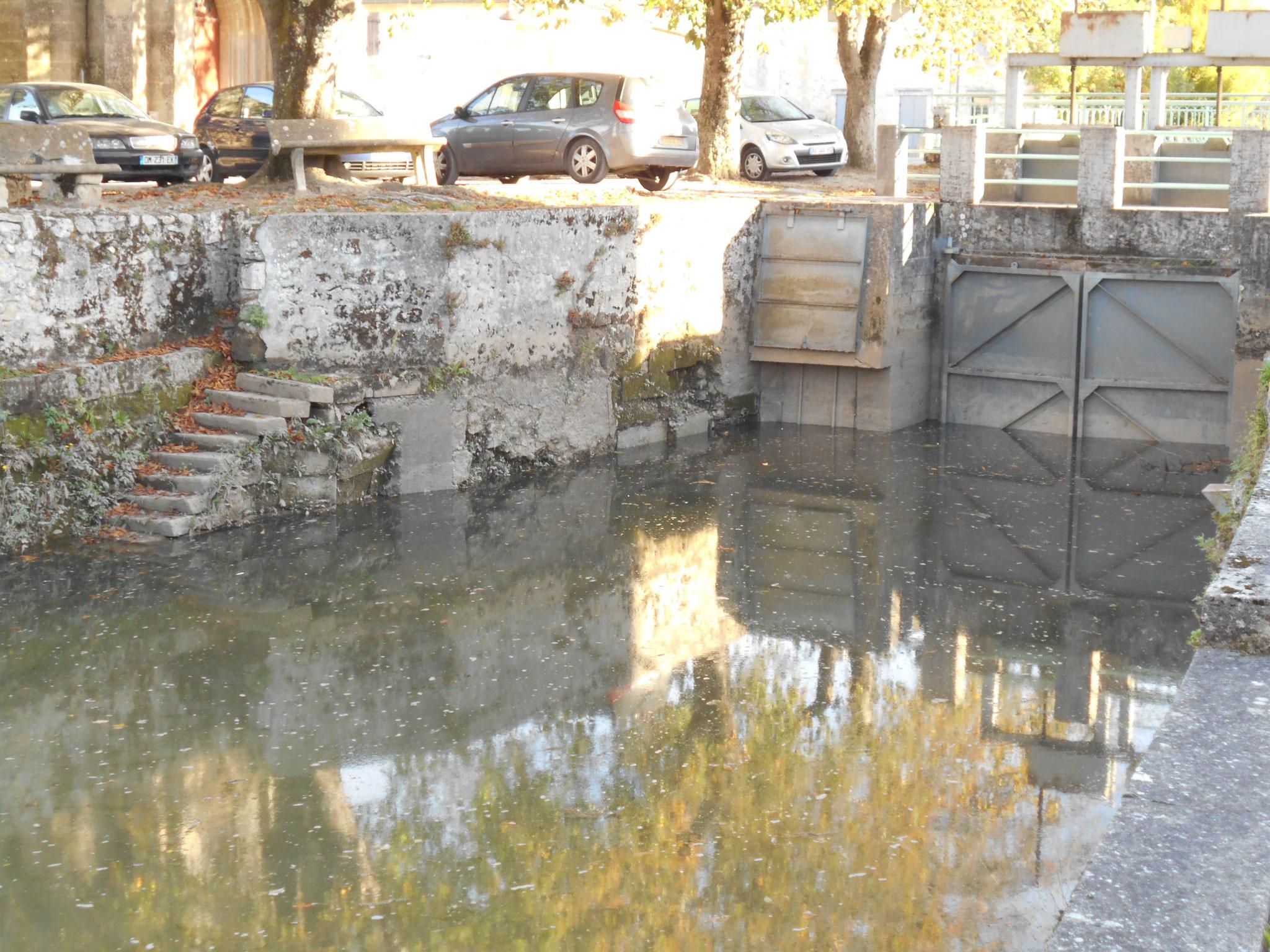 Portes à flot et emplacement de l'ancien moulin : comment les poissons peuvent-ils passer ces obstacles ?