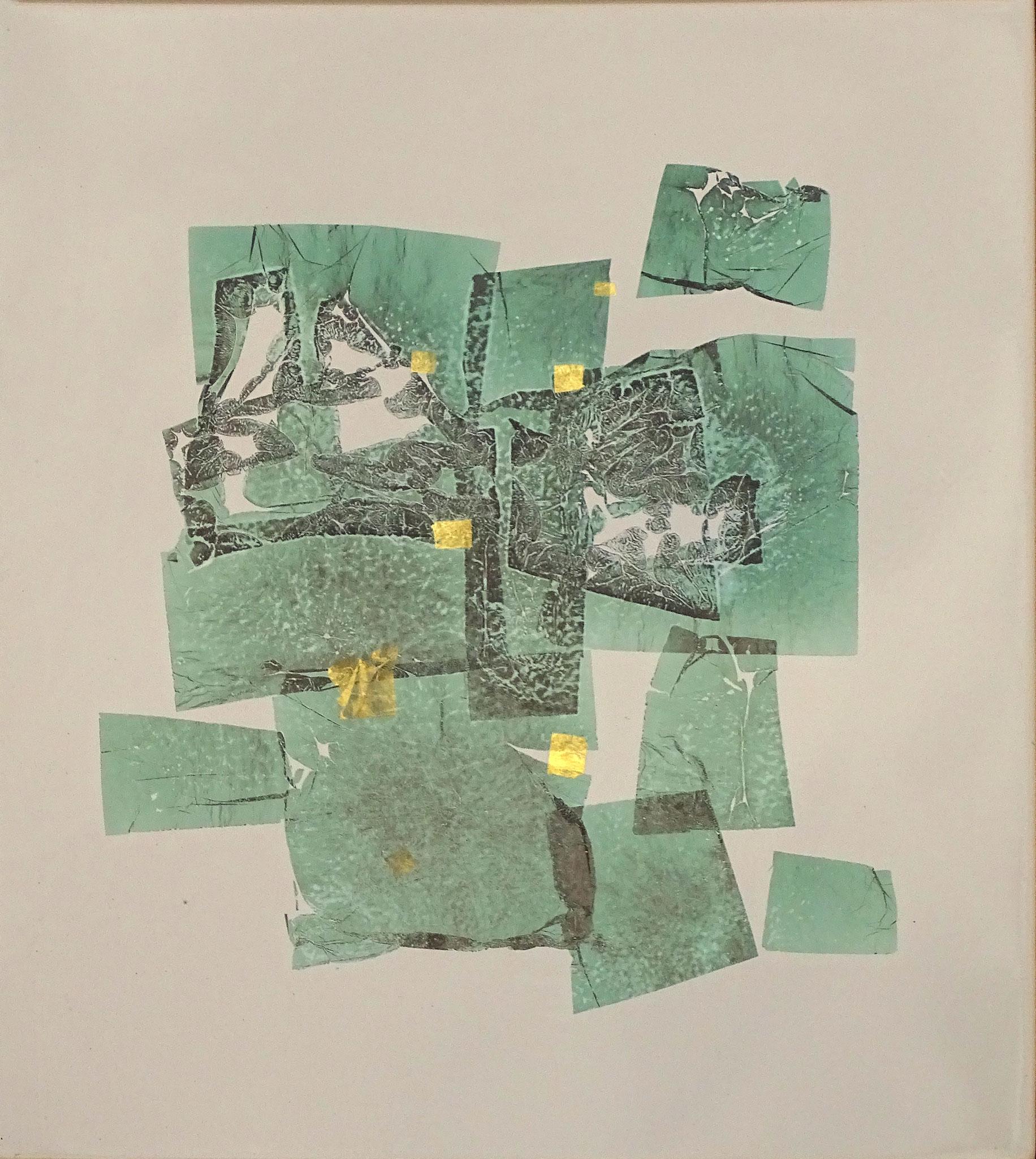 """o.T."" 2015, 50 x 57 cm, Kupfer,Gold"