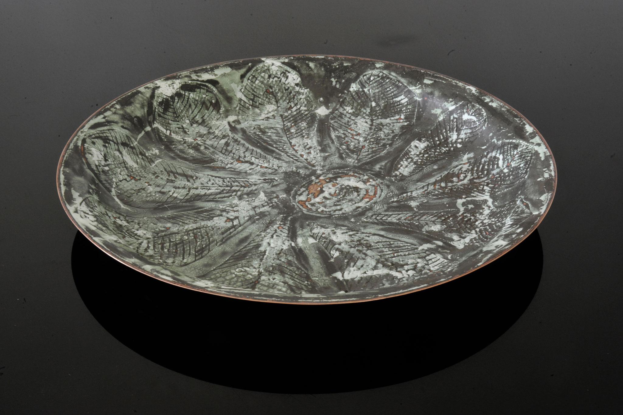 """Schale """"Grüngrau"""" Durchmesser 42,5 cm Höhe 4,5cm"""