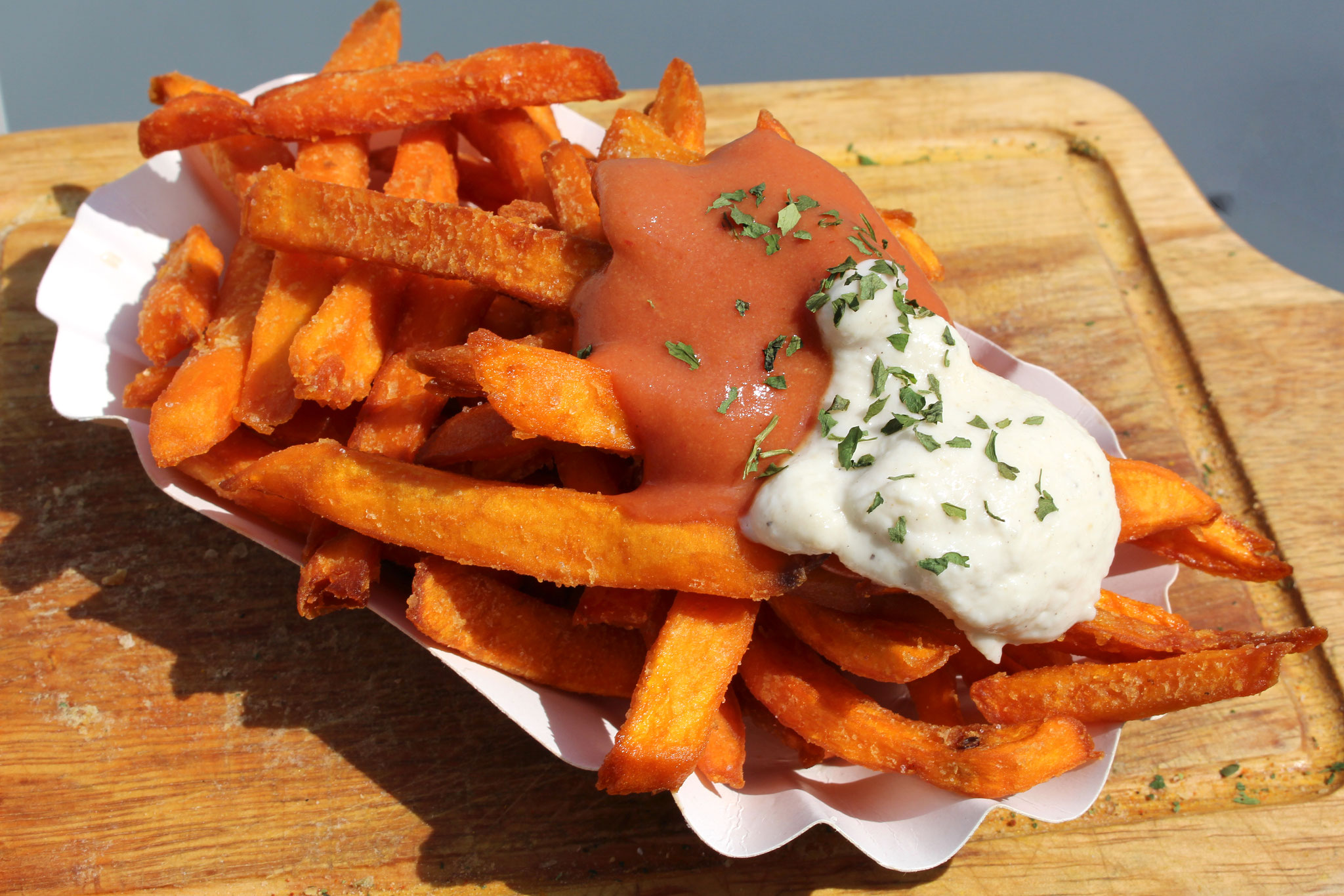 Sweetpotatofries Vegan Burger Catering Bonn