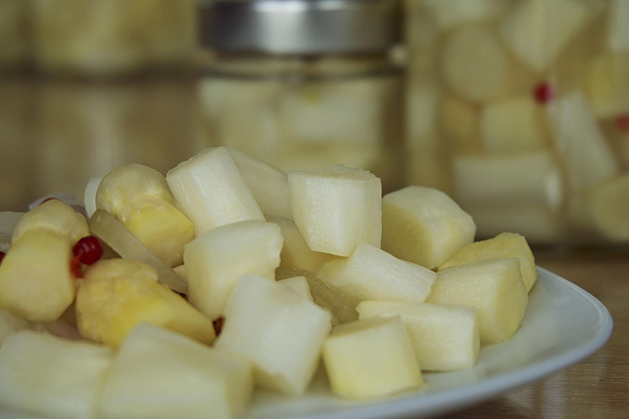 Das KÖNIGLICHE | fermentierter Spargel | Zarte milchsaure Spargelstücke