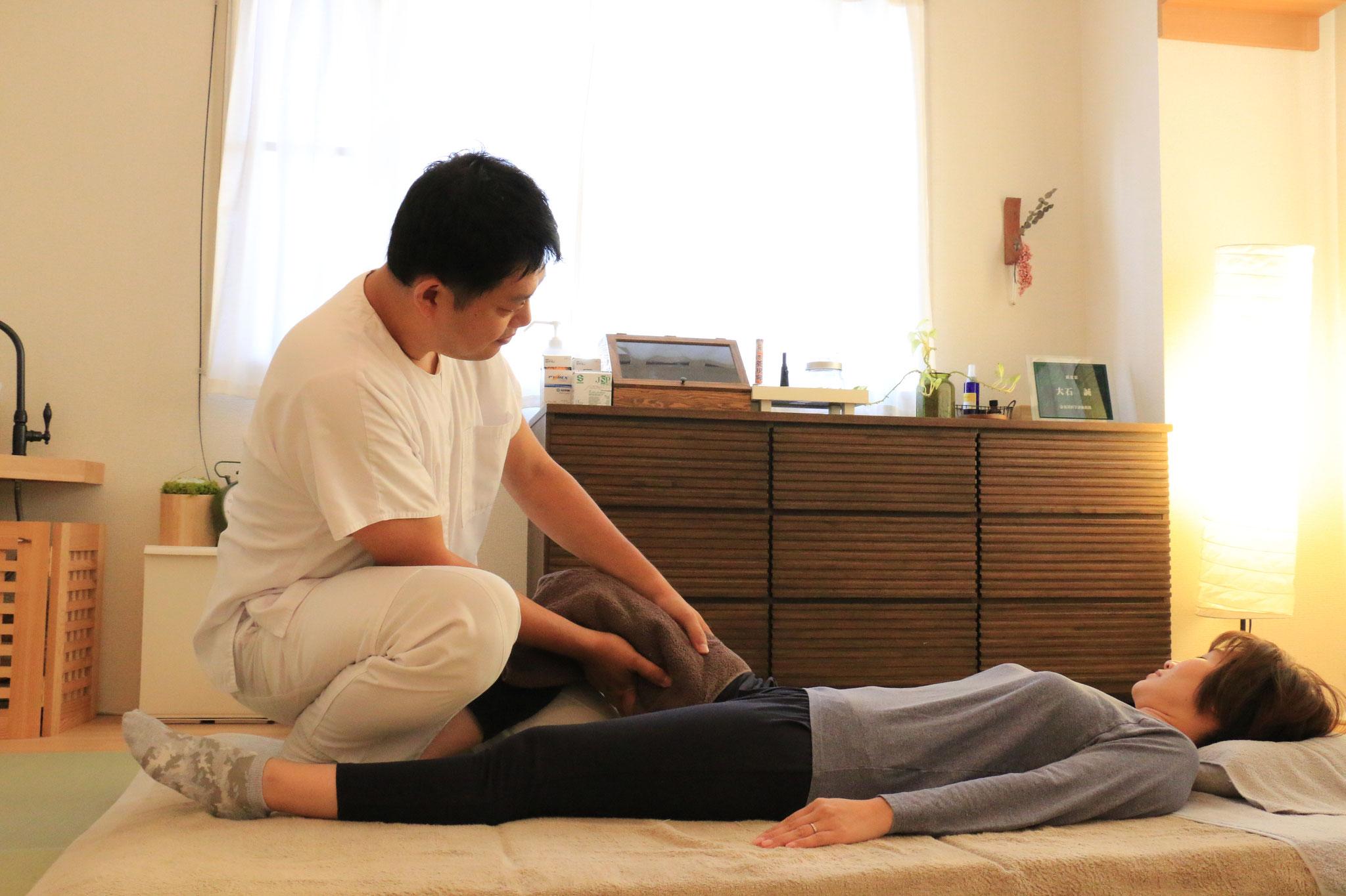 新日本延命療法。太もも内側はとても大切なポイントです。