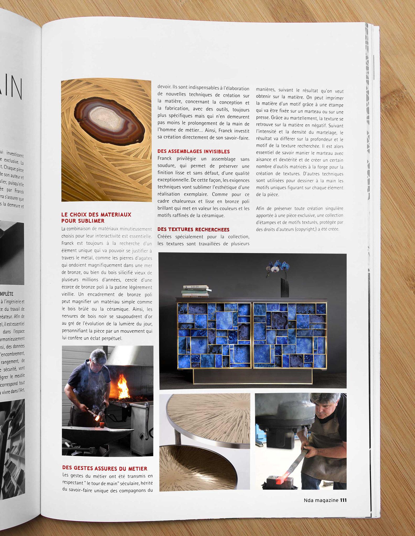 Nda Magazine # 29  Spécial Métiers d'Art et Design