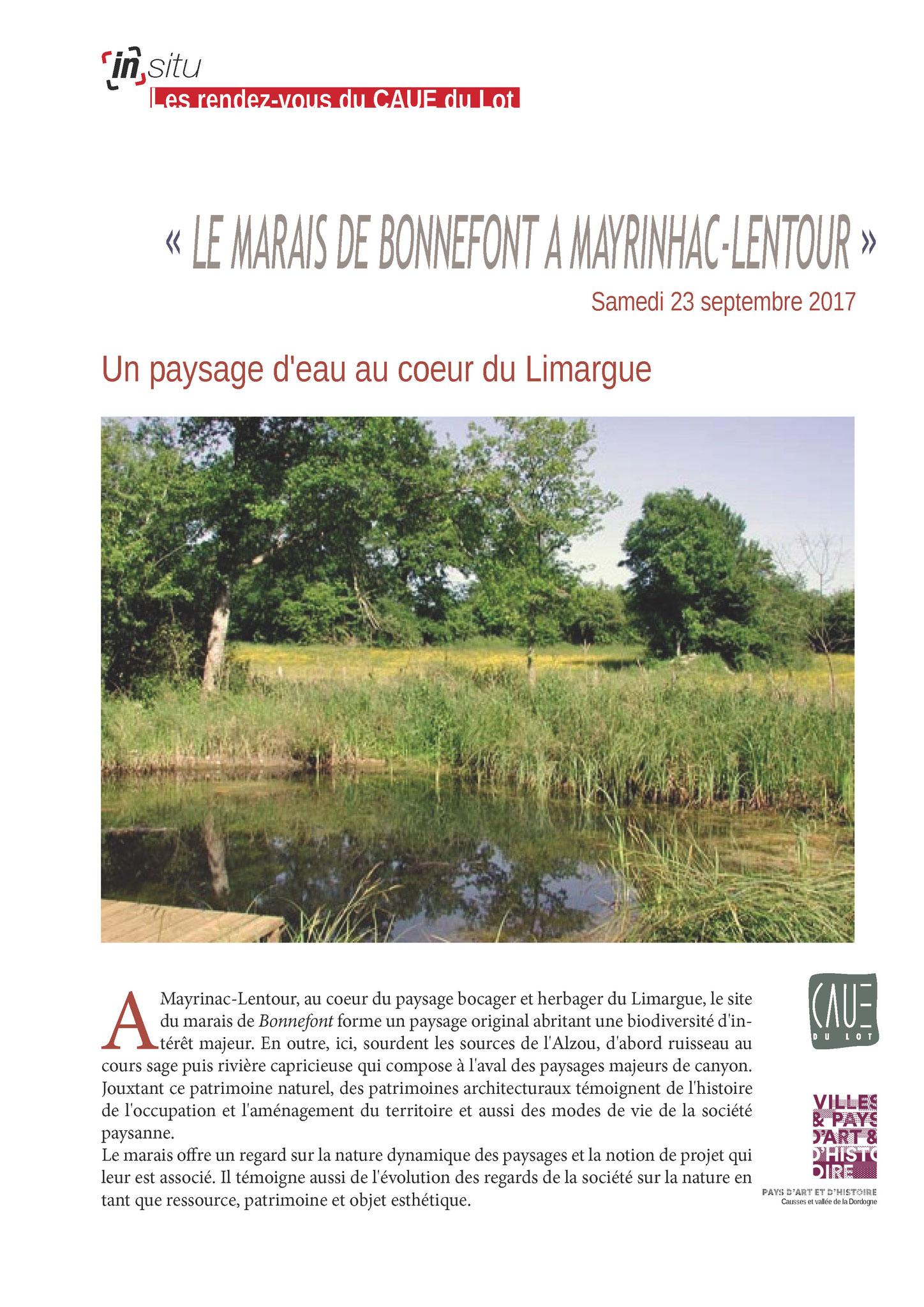 Mayrinhac-Lentour, le marais de Bonnefont - Septembre 2017