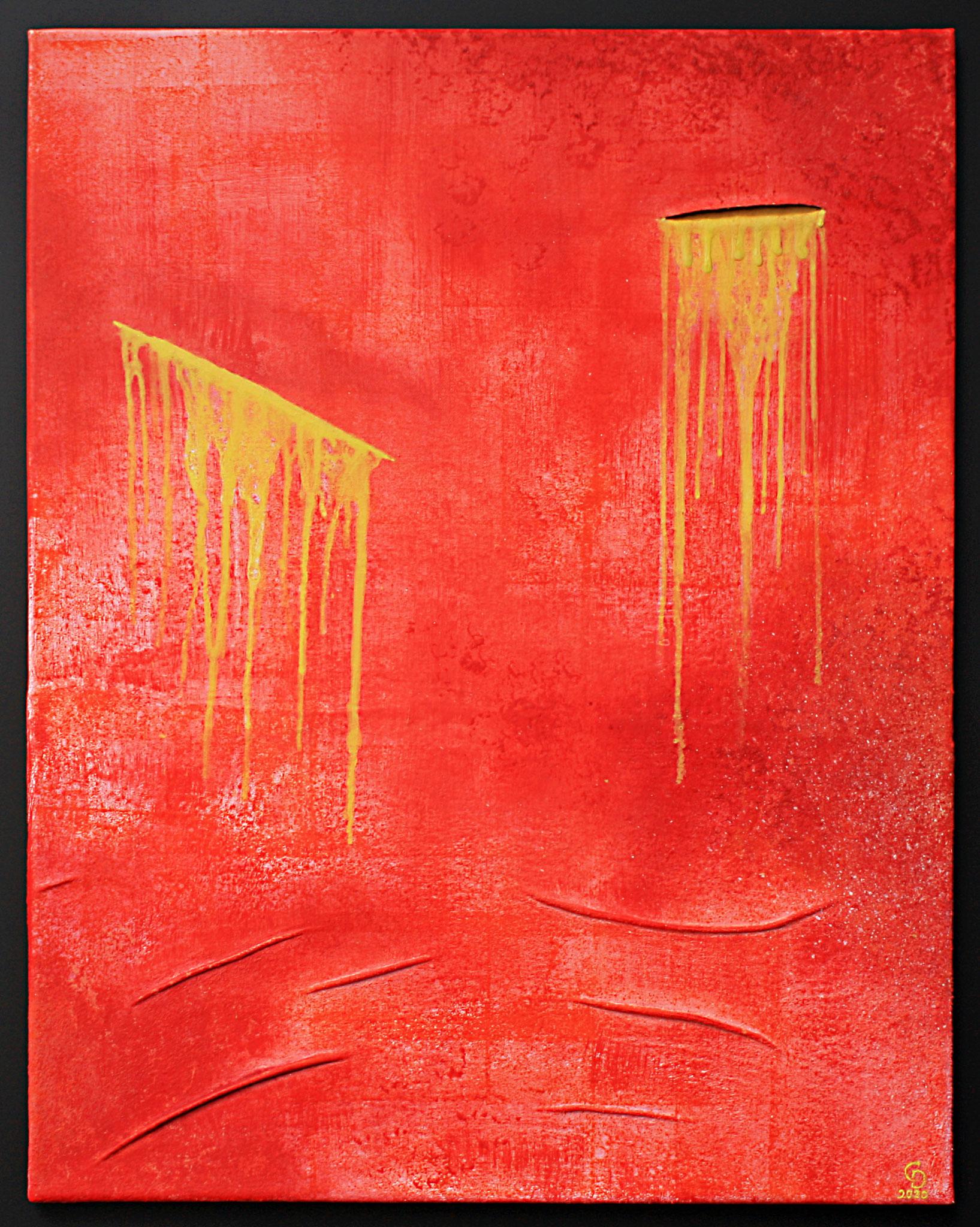 Vulnera, Acryl auf Leinwand und Textil, 74,5x57,5, Christopher Diehl