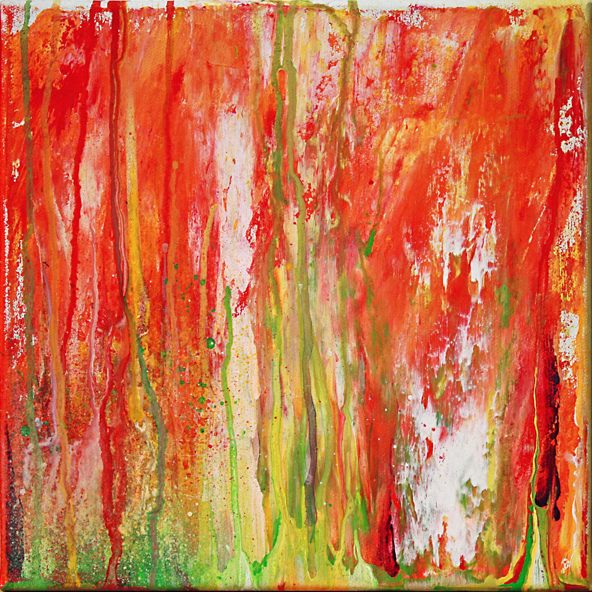 Esse des Hephaistos, Acryl auf Leinwand, 30x30, Christopher Diehl