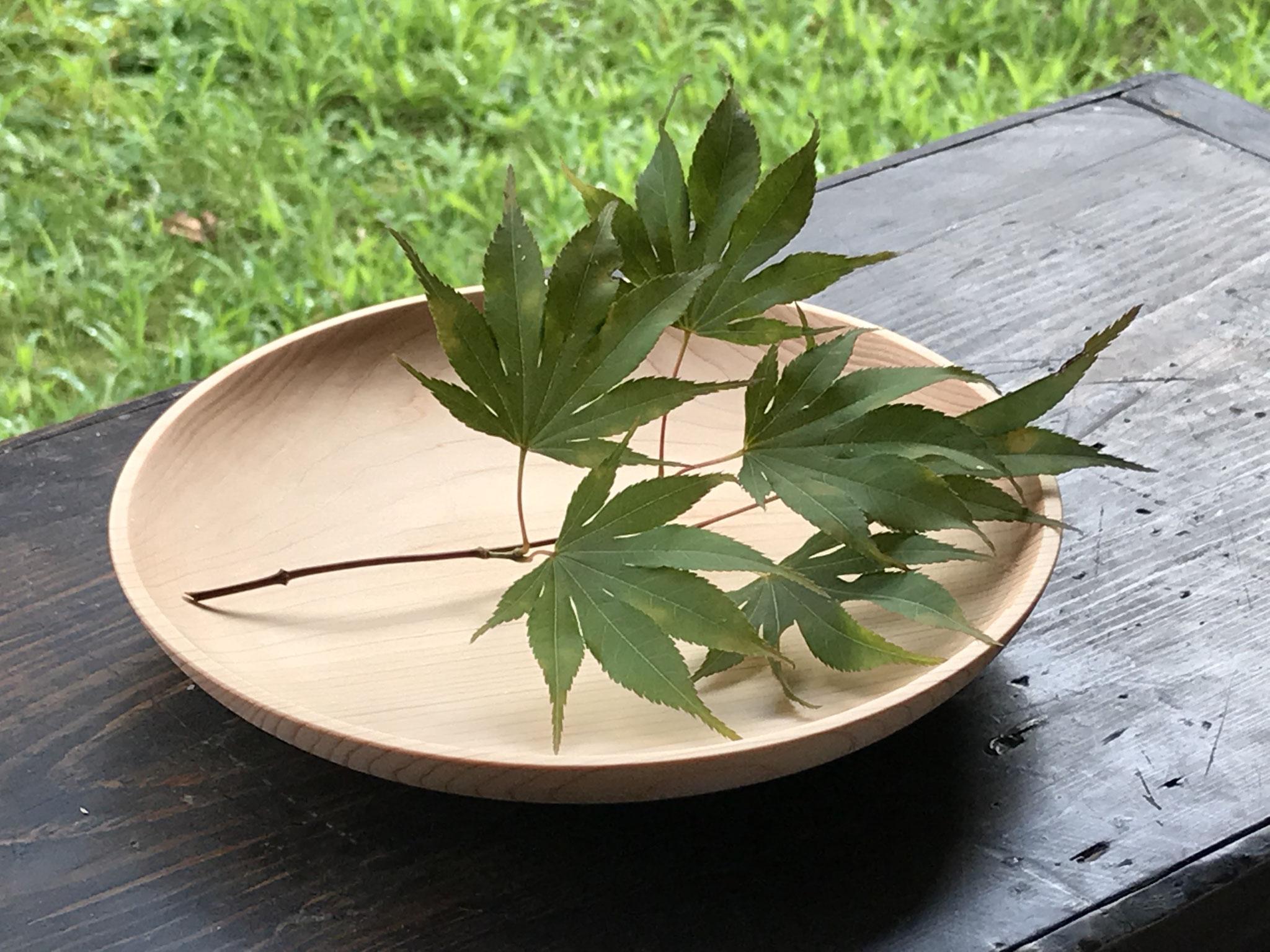 癒しの木工教室 ヒノキの皿