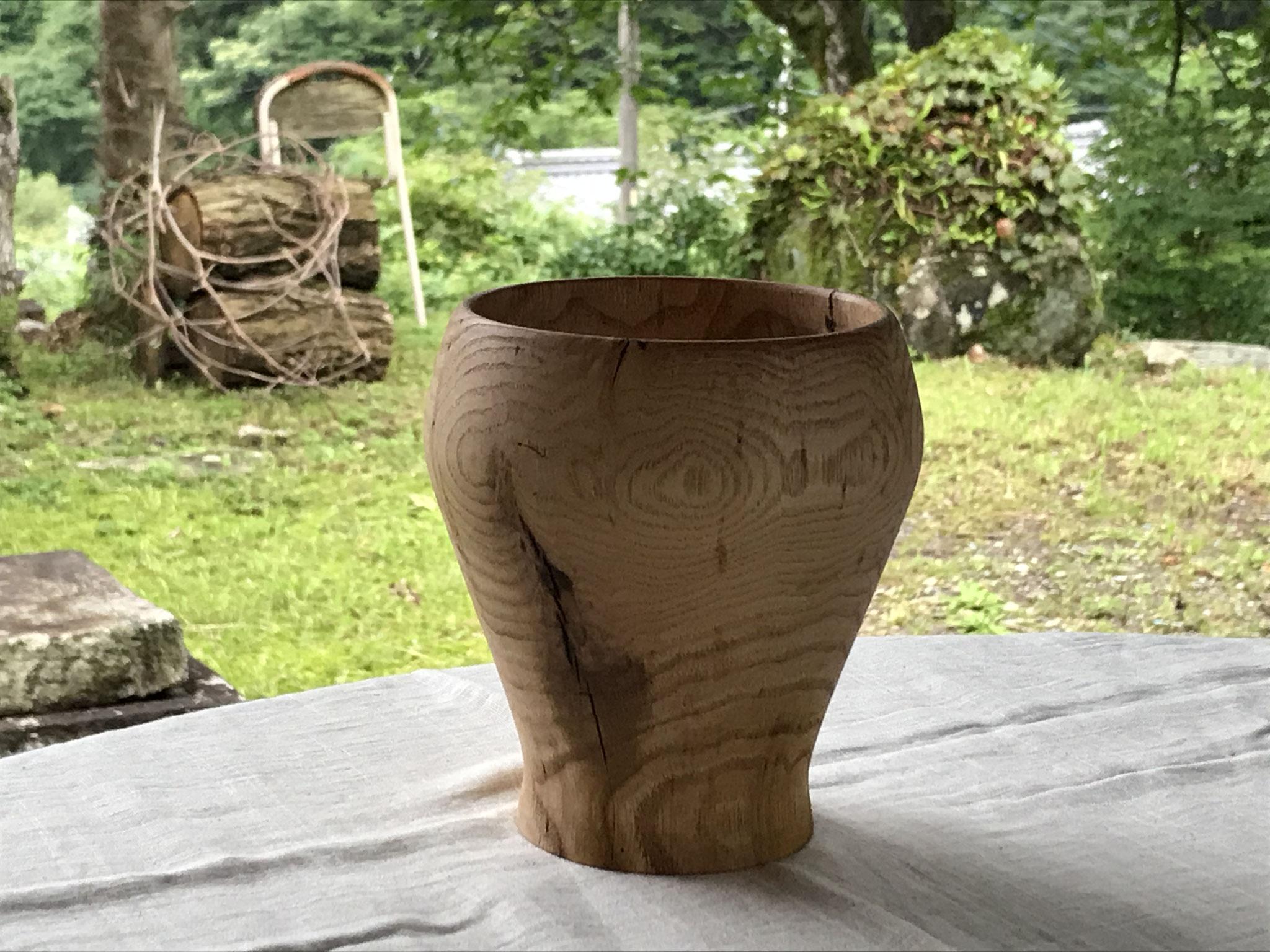 癒しの木工教室 クリの花器