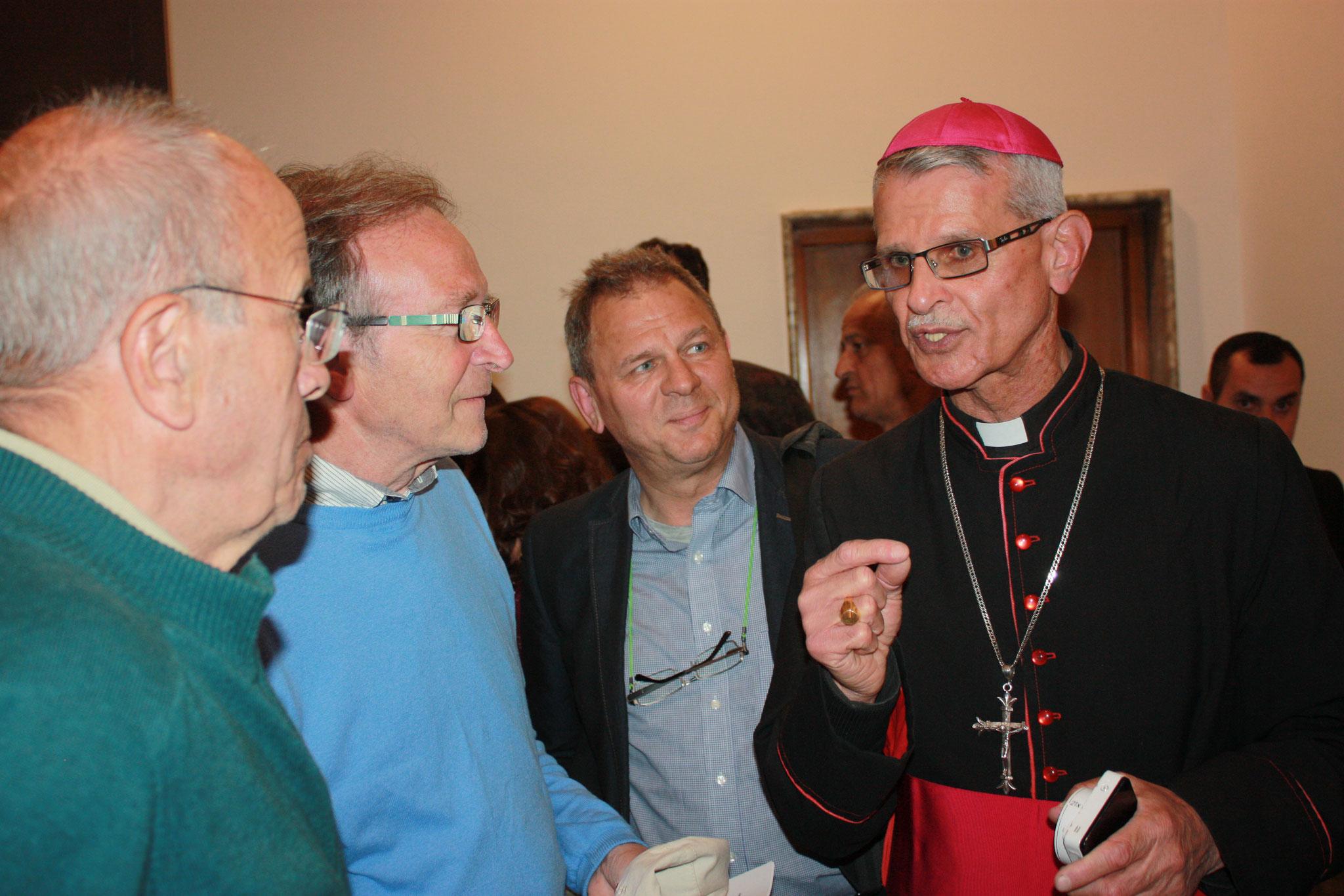Treffen der ICO-Delegation mit Bischof Raban Al-Quas, dem chaldäischen Bischof von Amadya-Shamkan