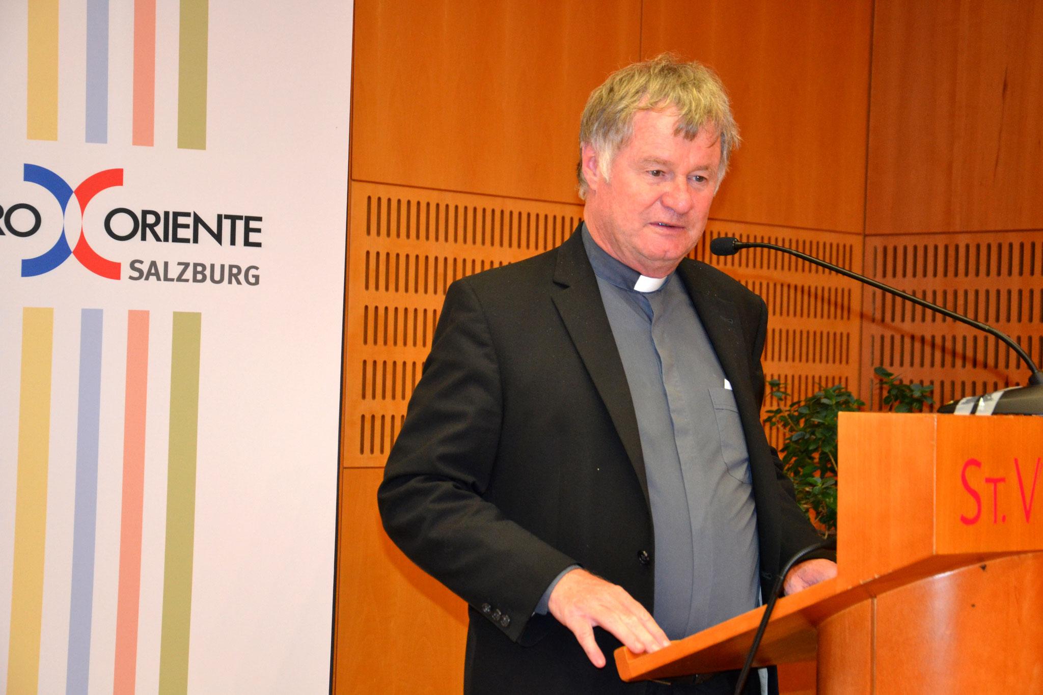 Den Abendvortrag hielt der Linzer Bischof Manfred Scheuer. Er referierte über Migration und Integration aus Sicht der Kirche in Österreich.