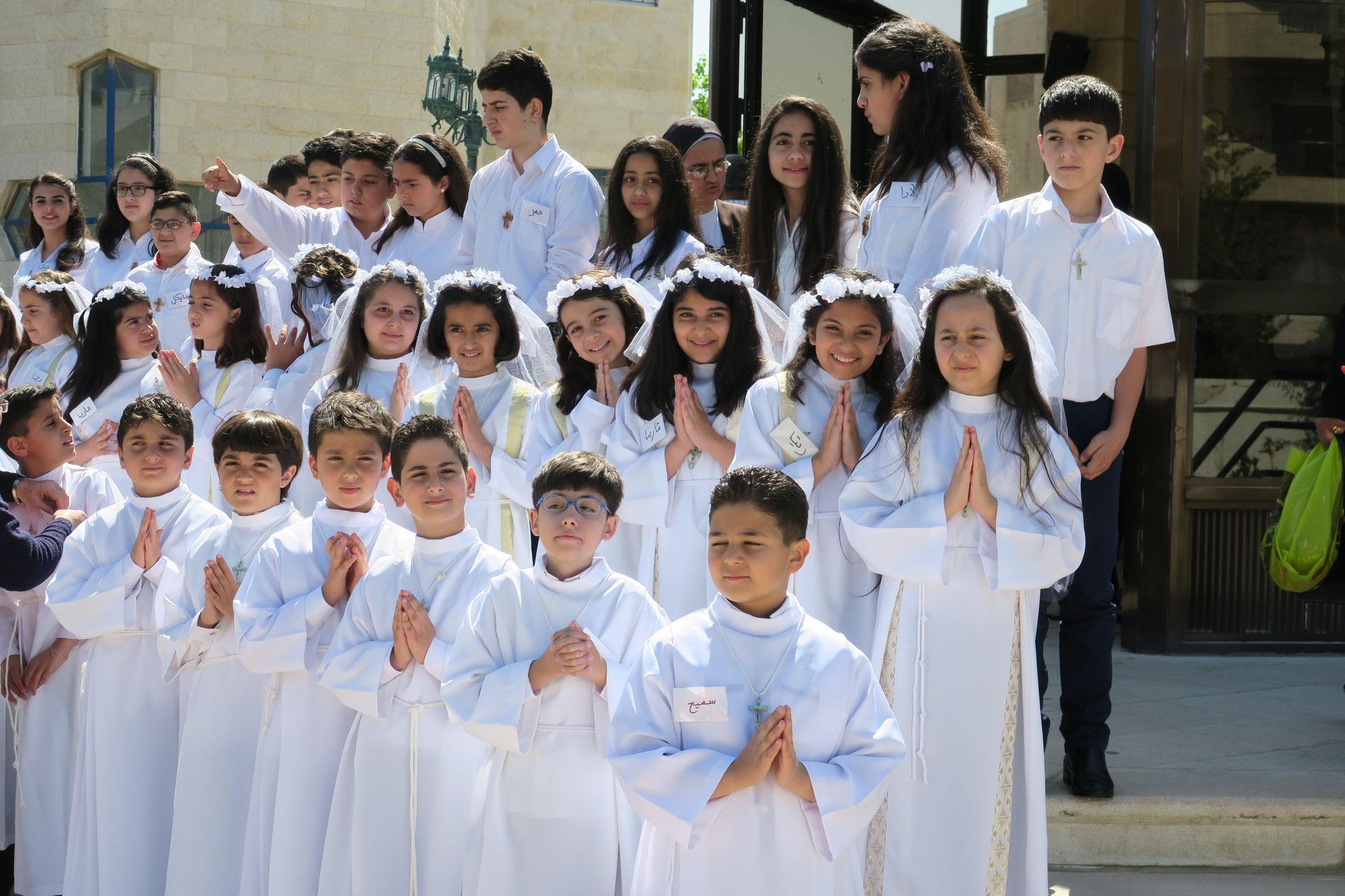 Erstkommunionfeier in Amman