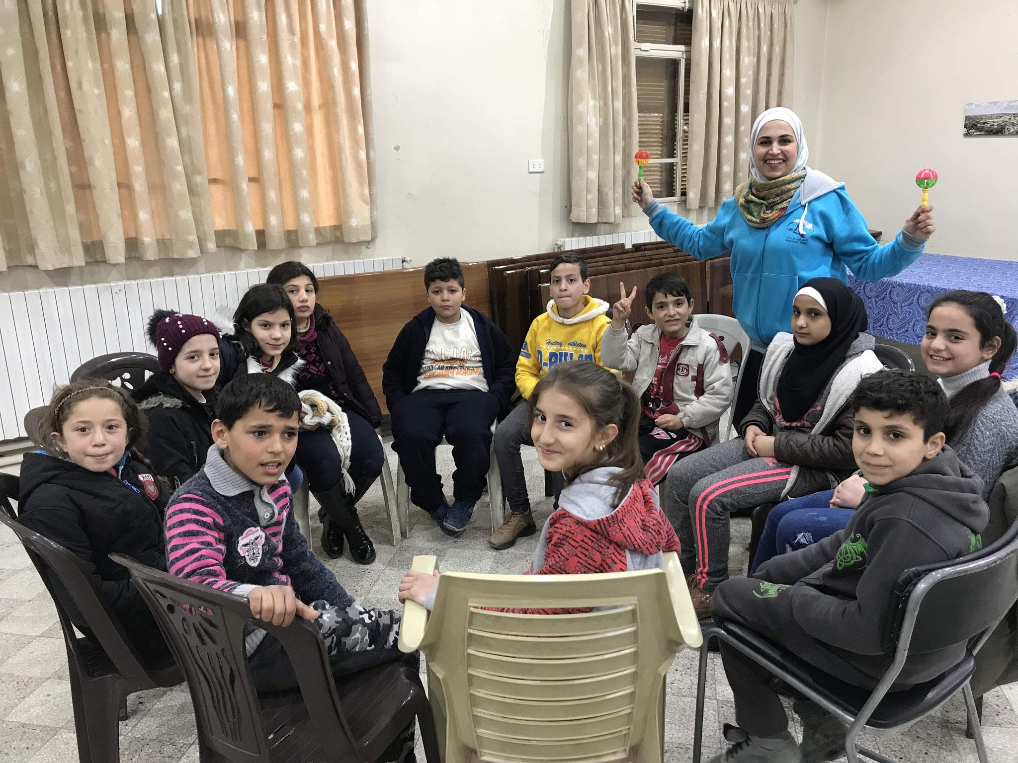 SEEDS - Traumaarbeit durch die Blauen Maristen in Aleppo
