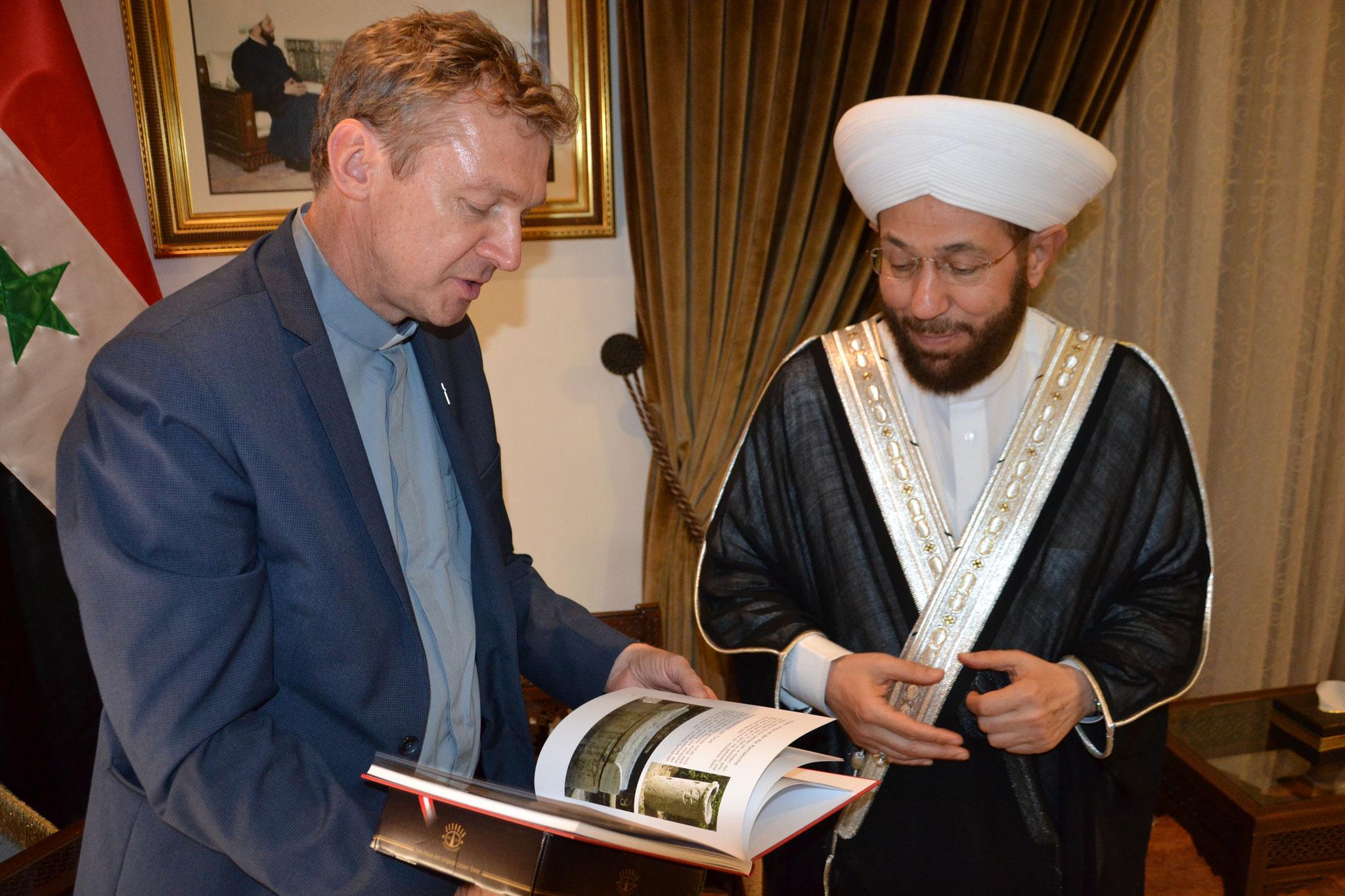 ICO-Delegation zu Besuch beim Großmufti von Syrien