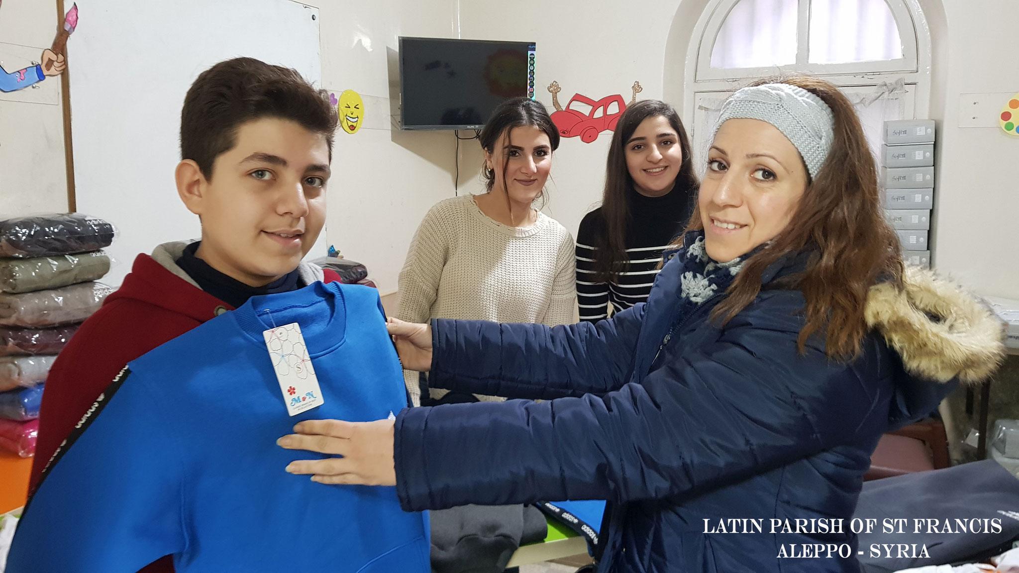 Winterbekleidung für 600 Kinder in Aleppo