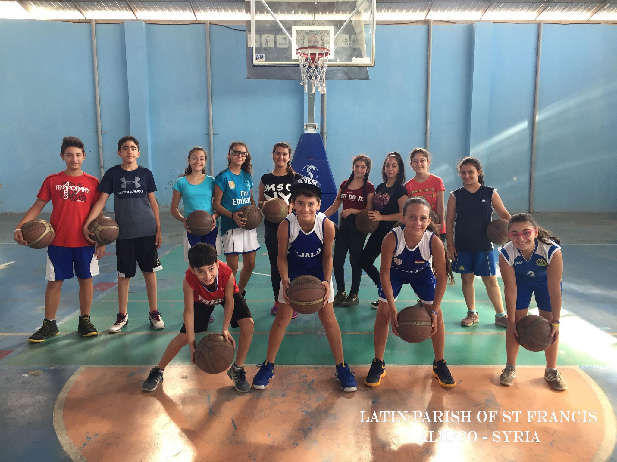 Sportliche Aktivitäten für Jugendliche in Aleppo