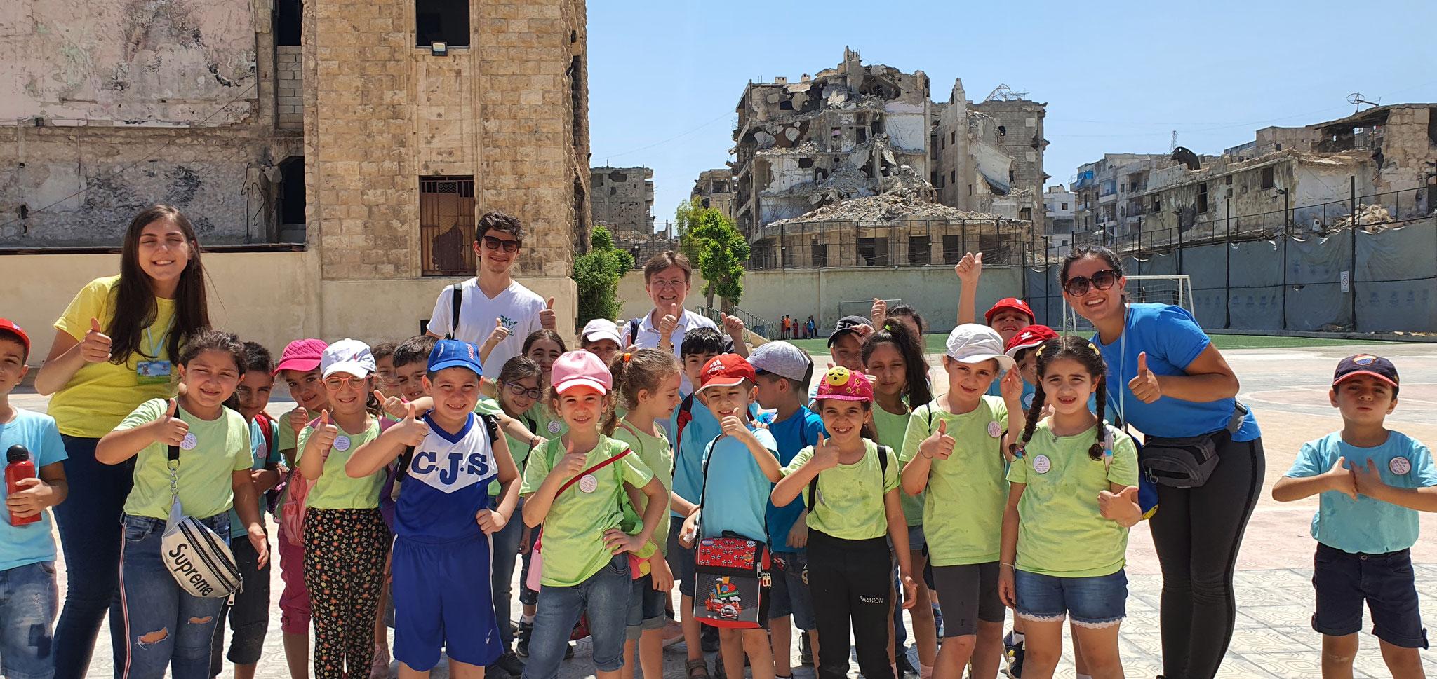 Aleppo - Ferienspass trotz Krieg und Zerstörung