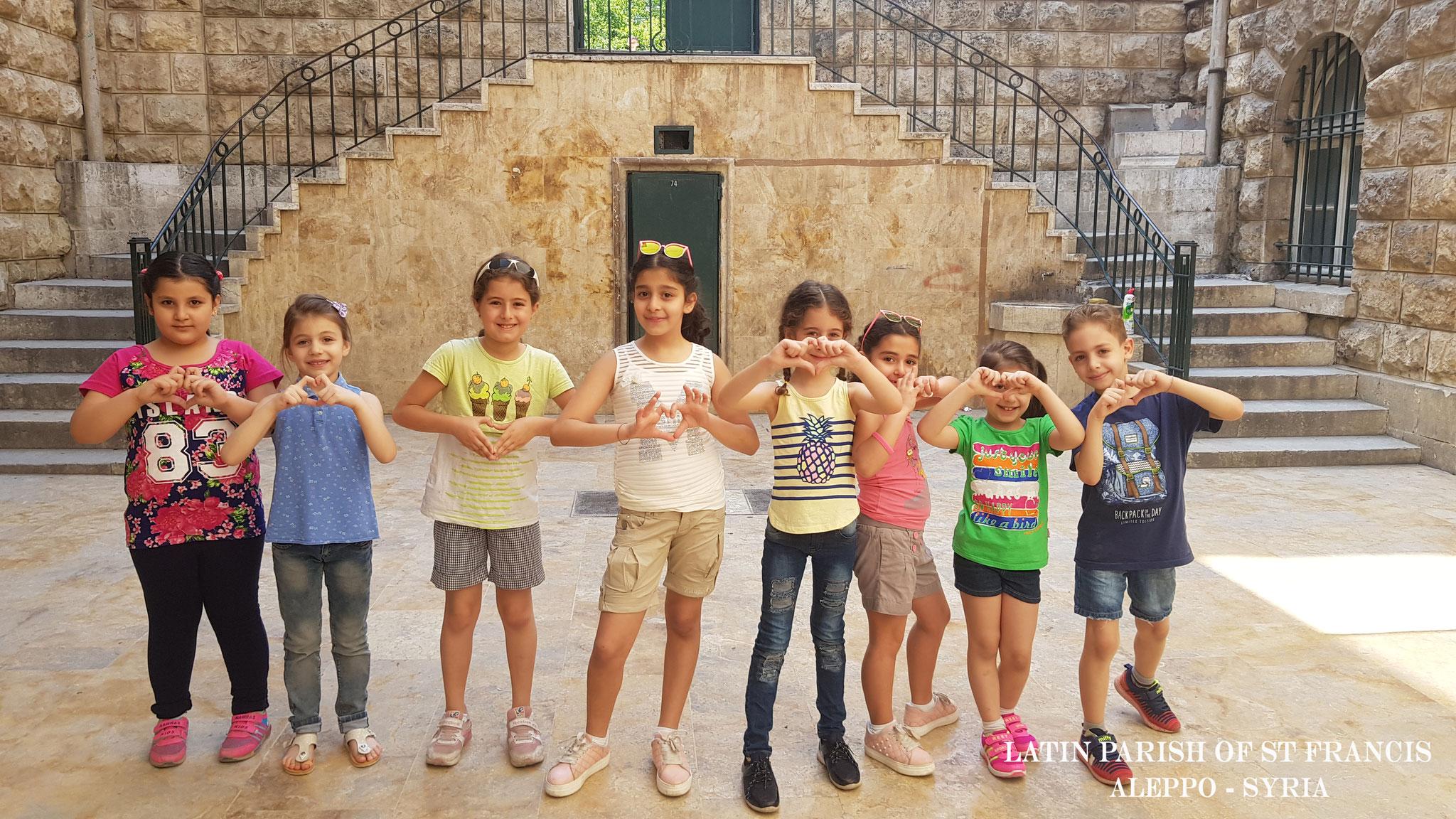 Kinder in Aleppo - Dank an die Spender der ICO