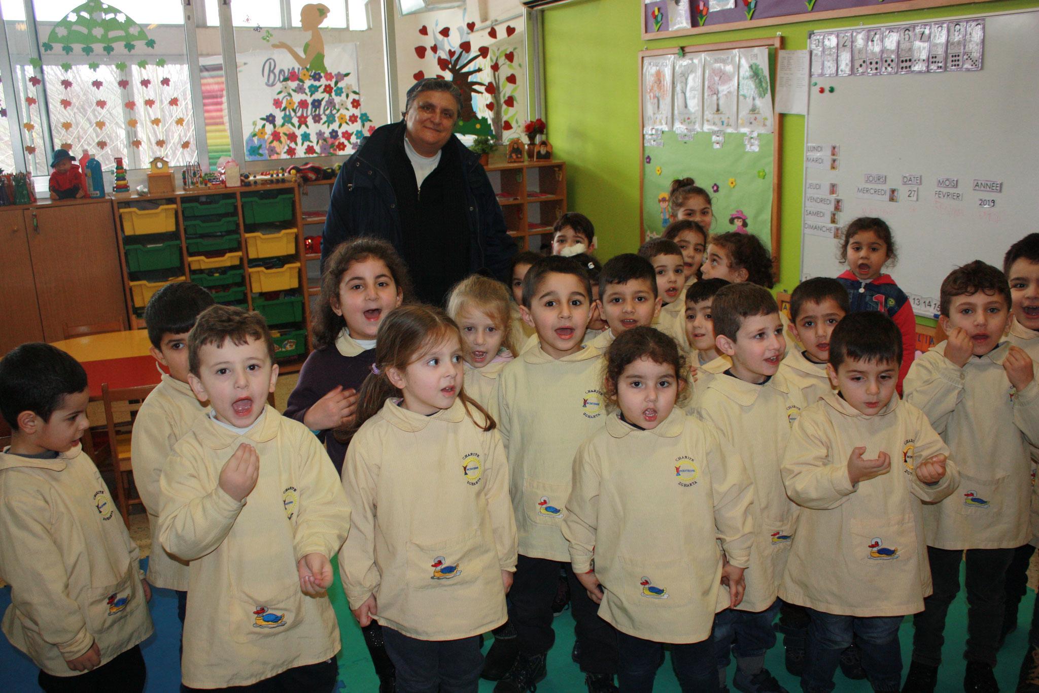 Kindergarten der Schule der Barmherzigen Schwestern in Zghorta