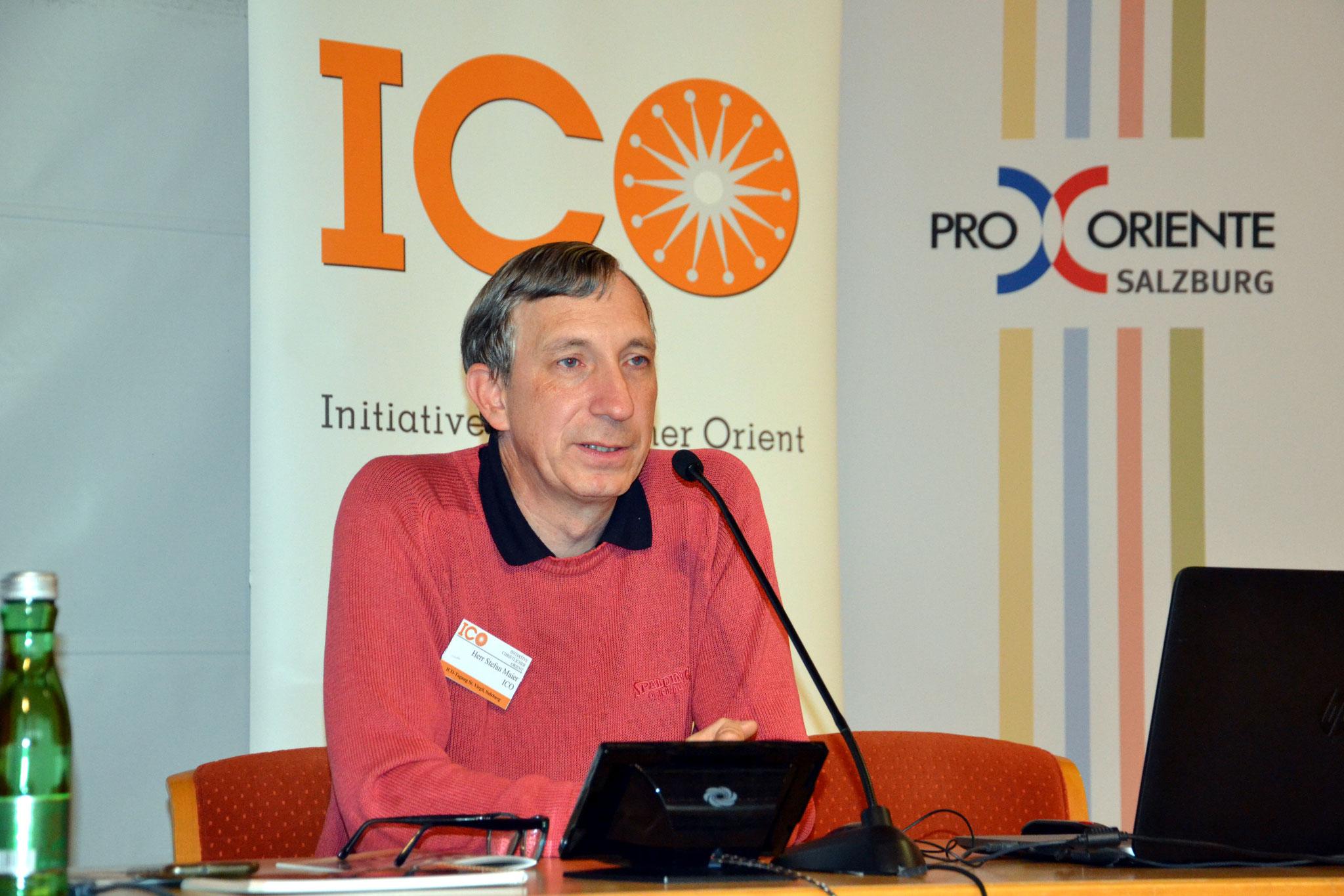 ICO-Projektkoordinator Stefan Maier berichtete über die zahlreichen Hilfsprojekte der ICO. Im Jahr 2020 waren es insgesamt rund 70.